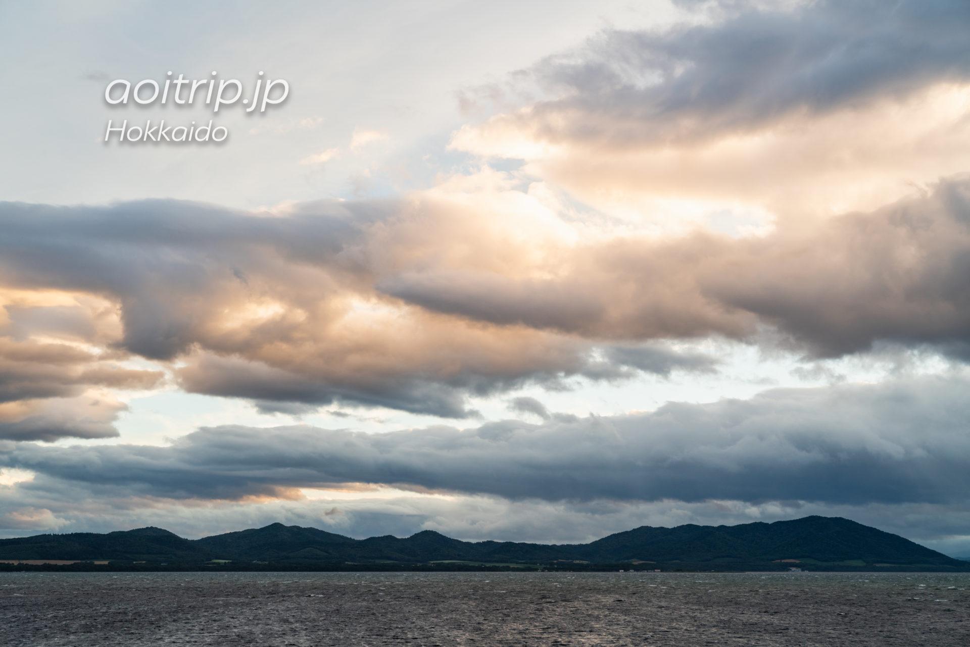 サロマ湖鶴雅リゾートから望むサロマ湖