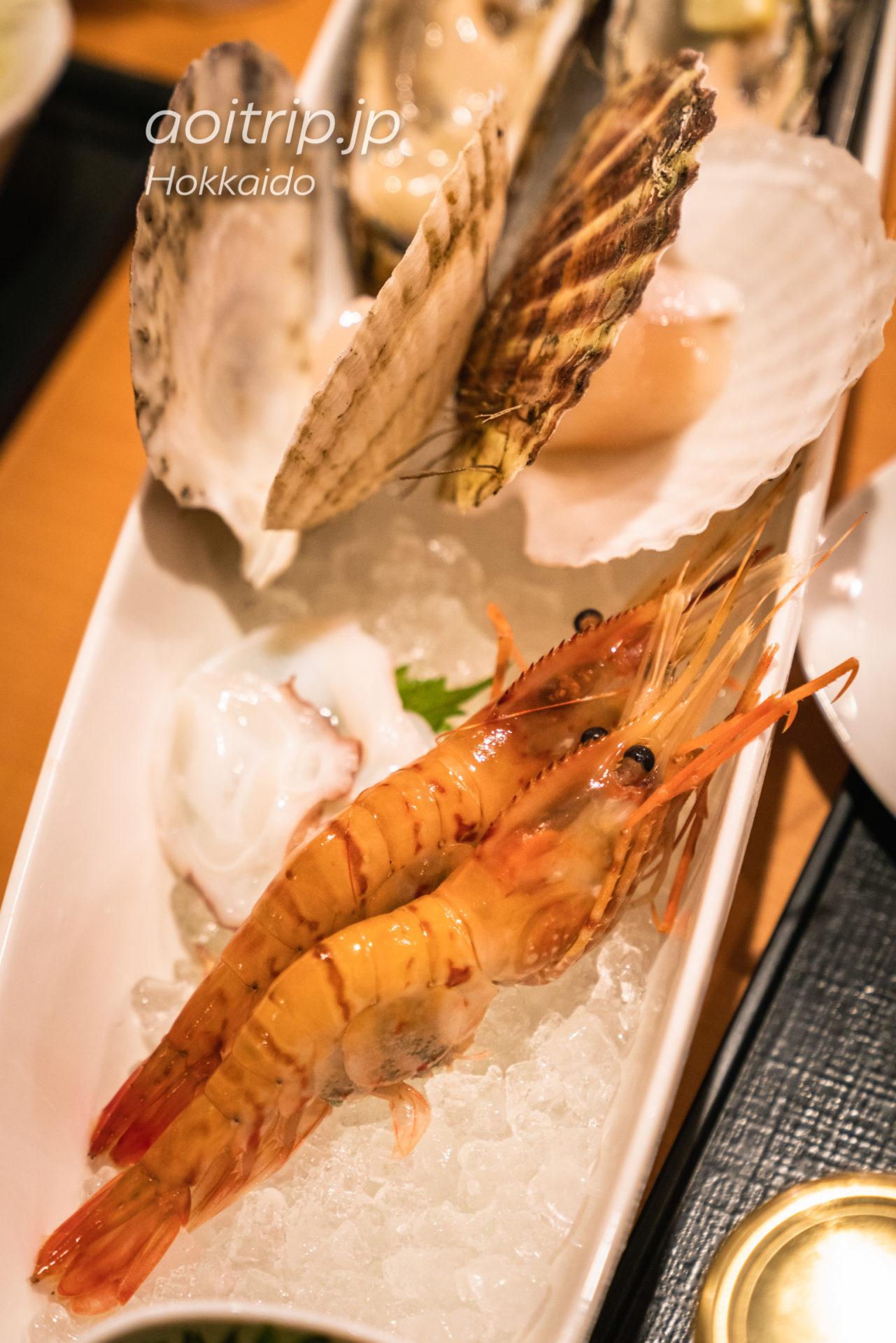 サロマ湖 鶴雅リゾートの海鮮盛り合わせ