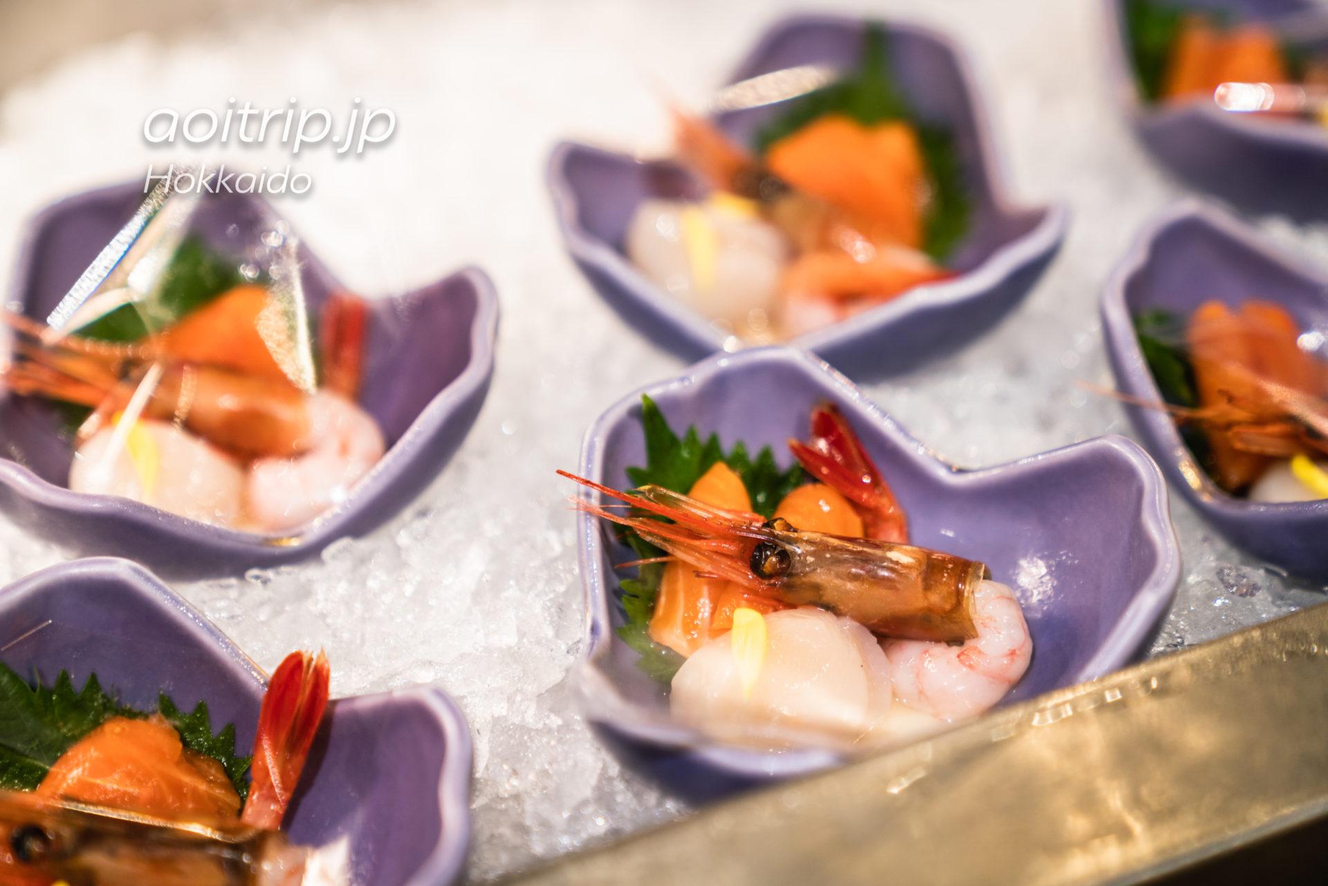 サロマ湖 鶴雅リゾートの夕食ビュッフェ