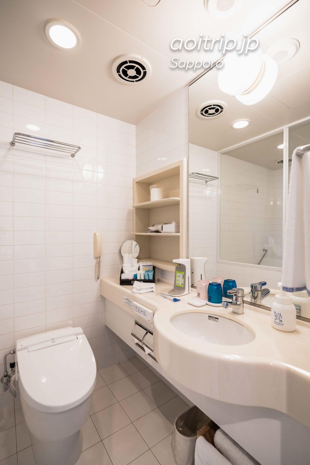 JRタワーホテル日航札幌のモデレートツインルーム客室 バスルーム