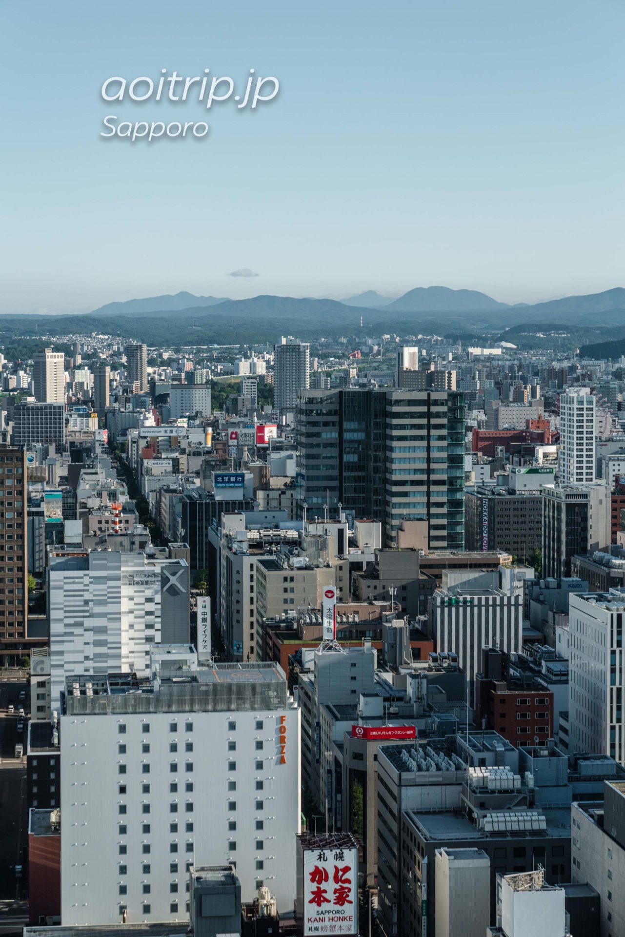 JRタワーホテル日航札幌のモデレートツインルーム客室 南側の眺望