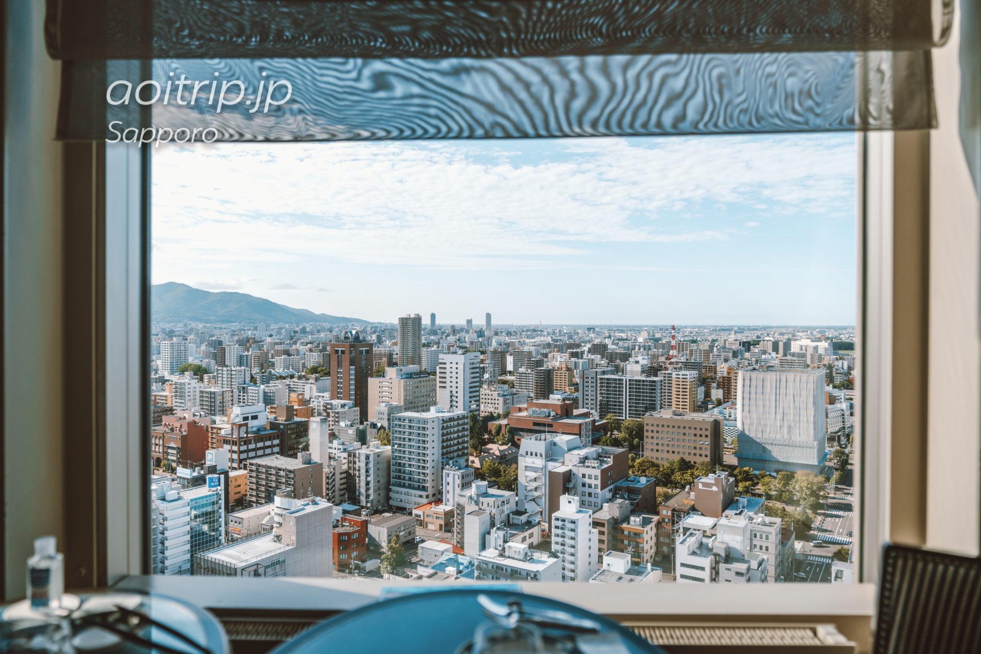 札幌プリンスホテル28FのスカイラウンジTop of Princeの眺望