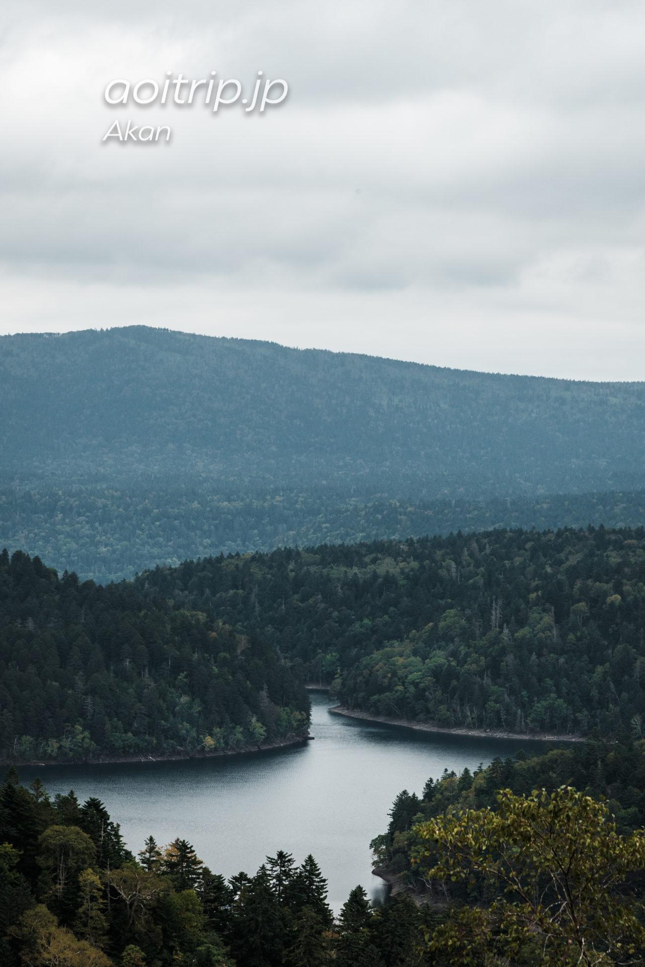 双湖台から望むペンケトー(北海道)