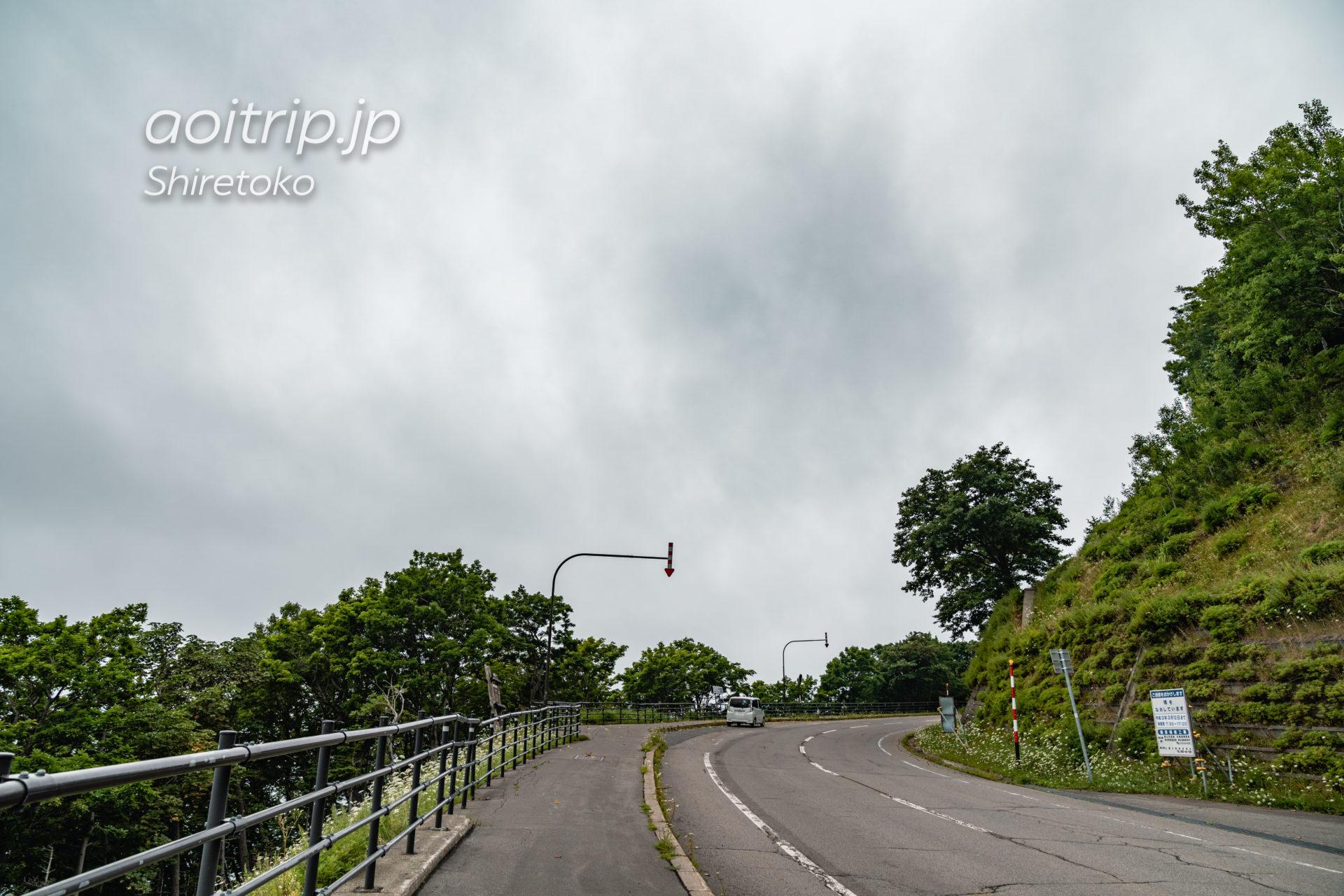 知床 プユニ岬の駐車場
