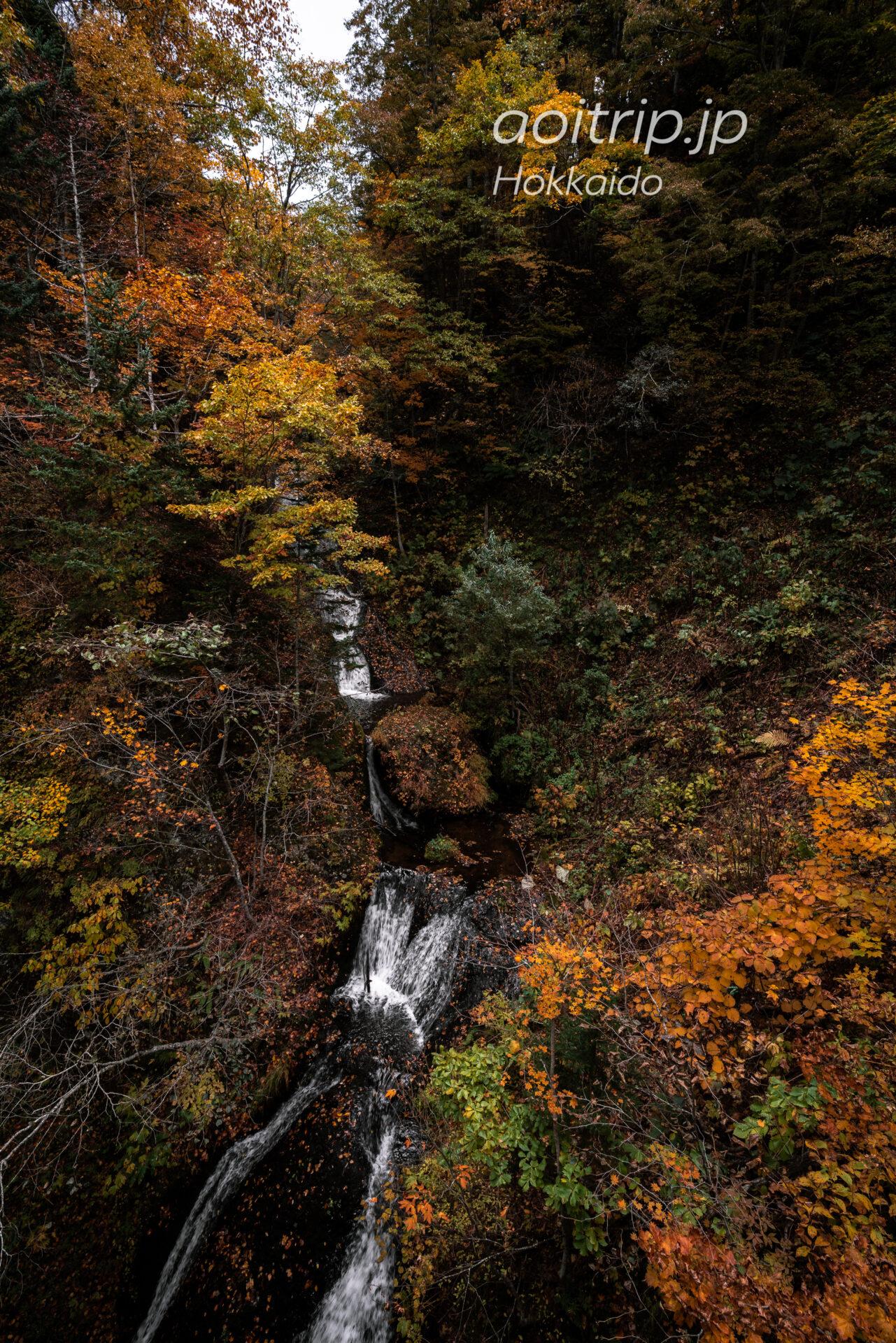 豊平峡の九段の滝