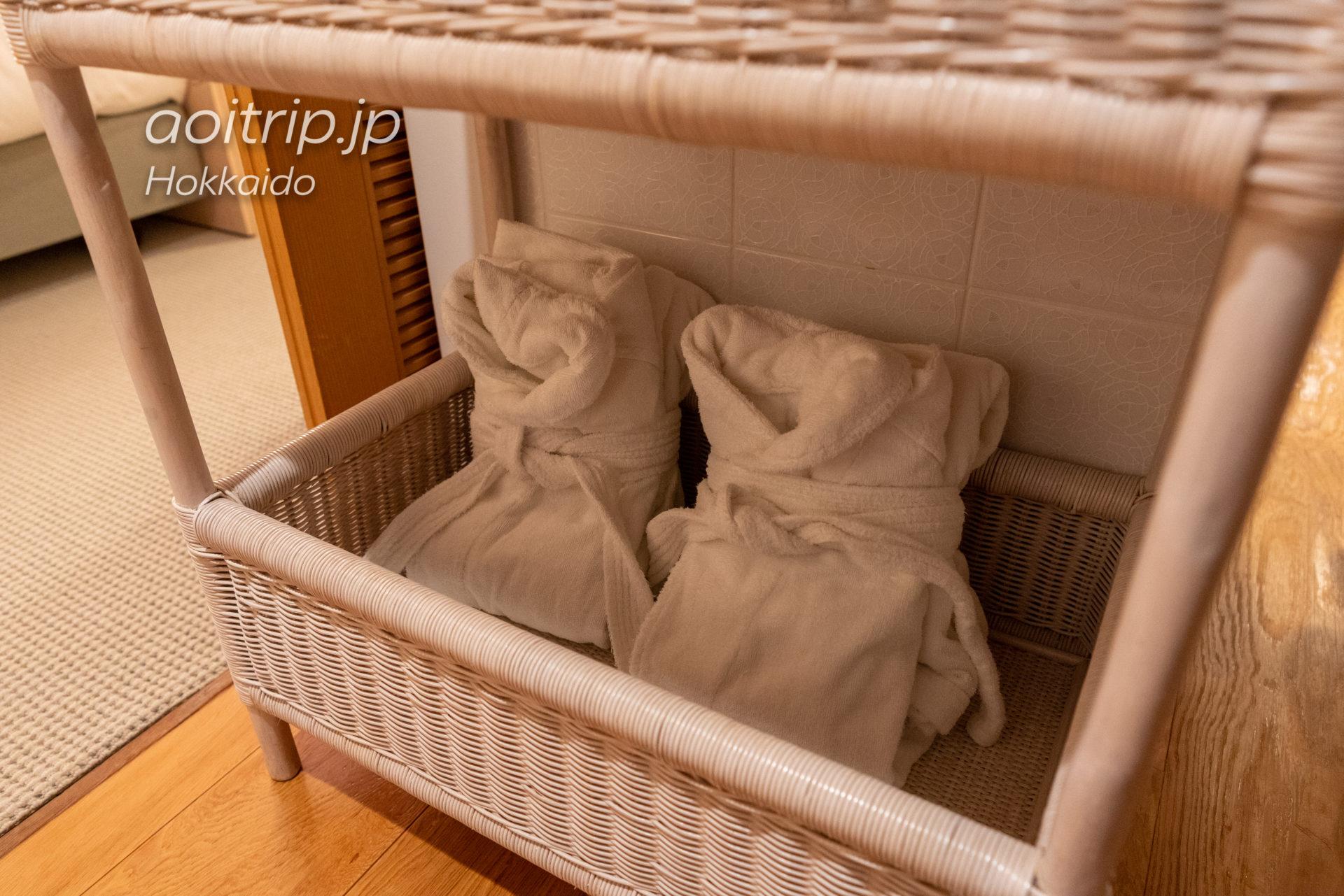 星野リゾート リゾナーレトマム 宿泊記|Hoshino Risonare Tomamu|バスローブ