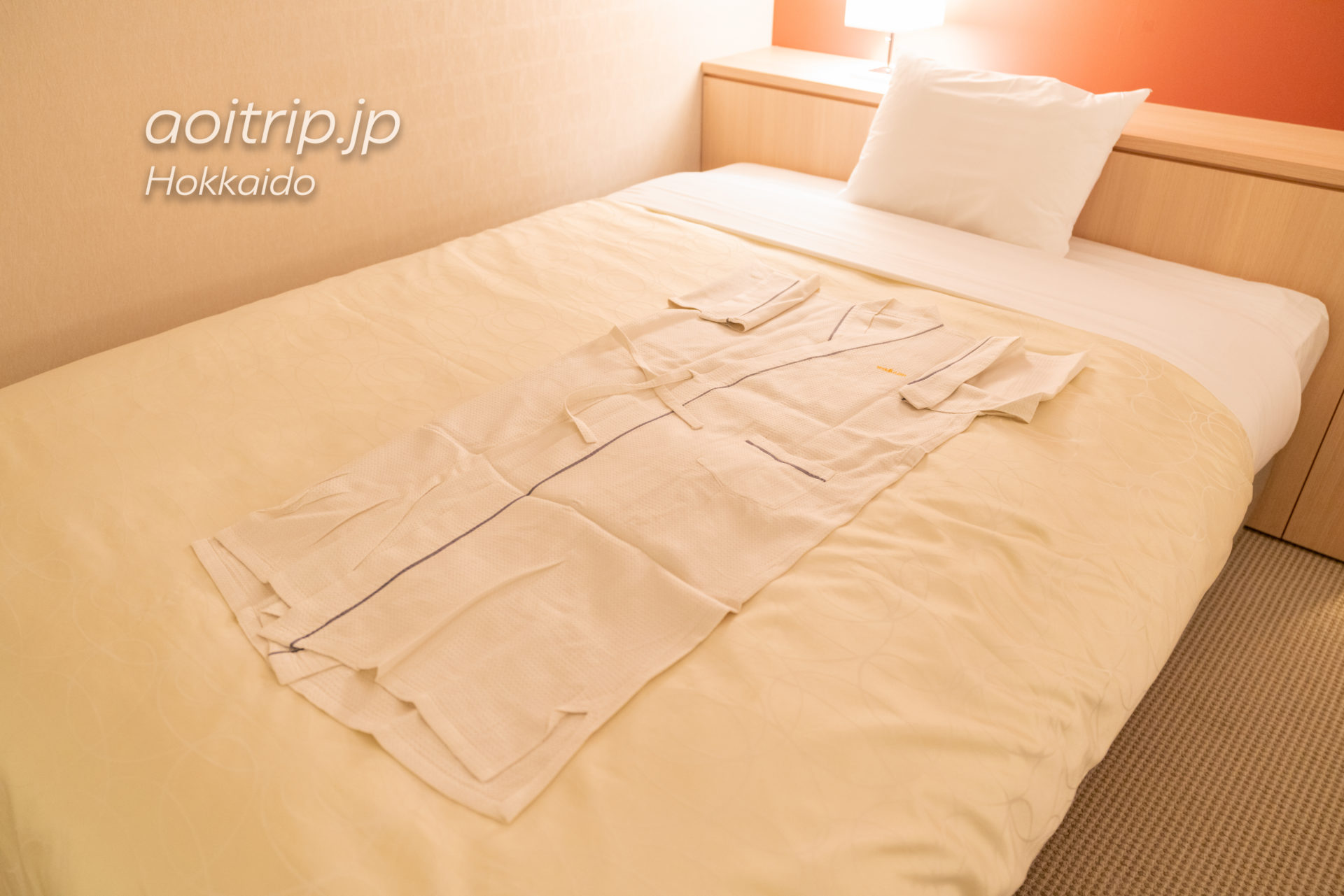 星野リゾート リゾナーレトマム 宿泊記|Hoshino Risonare Tomamu スイートツインルームの部屋着(パジャマ)