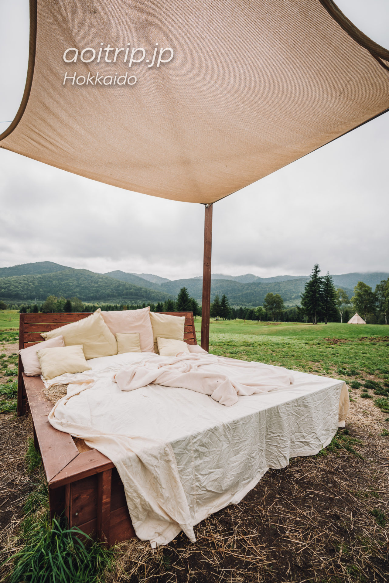星野リゾートトマムのファーム 牧草ベッド
