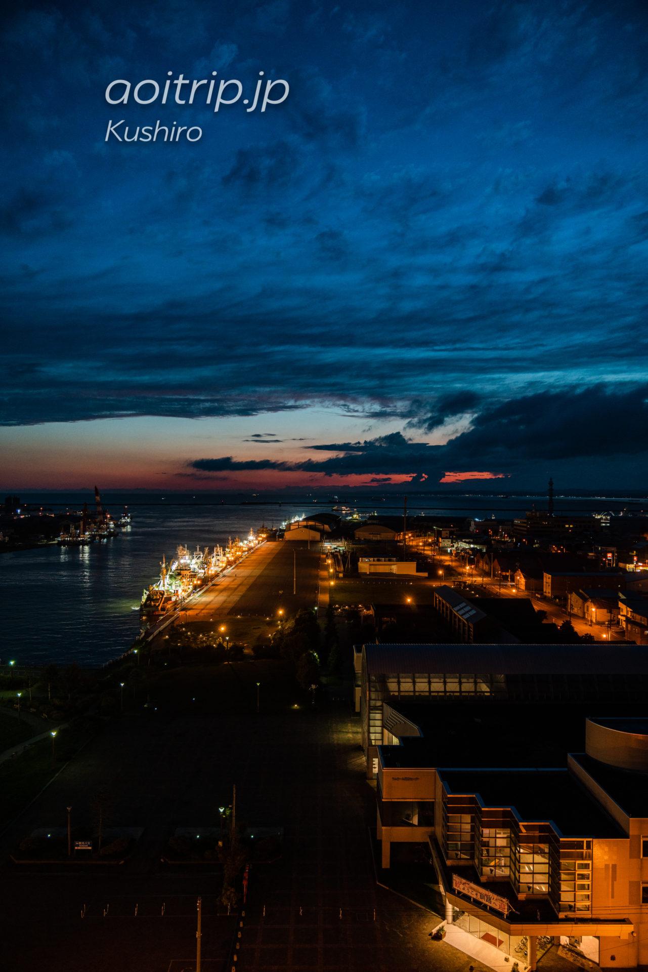 ANAクラウンプラザホテル釧路 ANA Crowne Plaza Hotel Kushiro コーナーツインルームの客室 海側の眺望