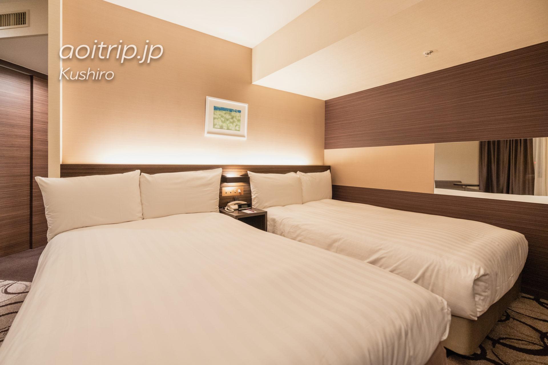 ANAクラウンプラザホテル釧路 ANA Crowne Plaza Hotel Kushiro コーナーツインルームの客室