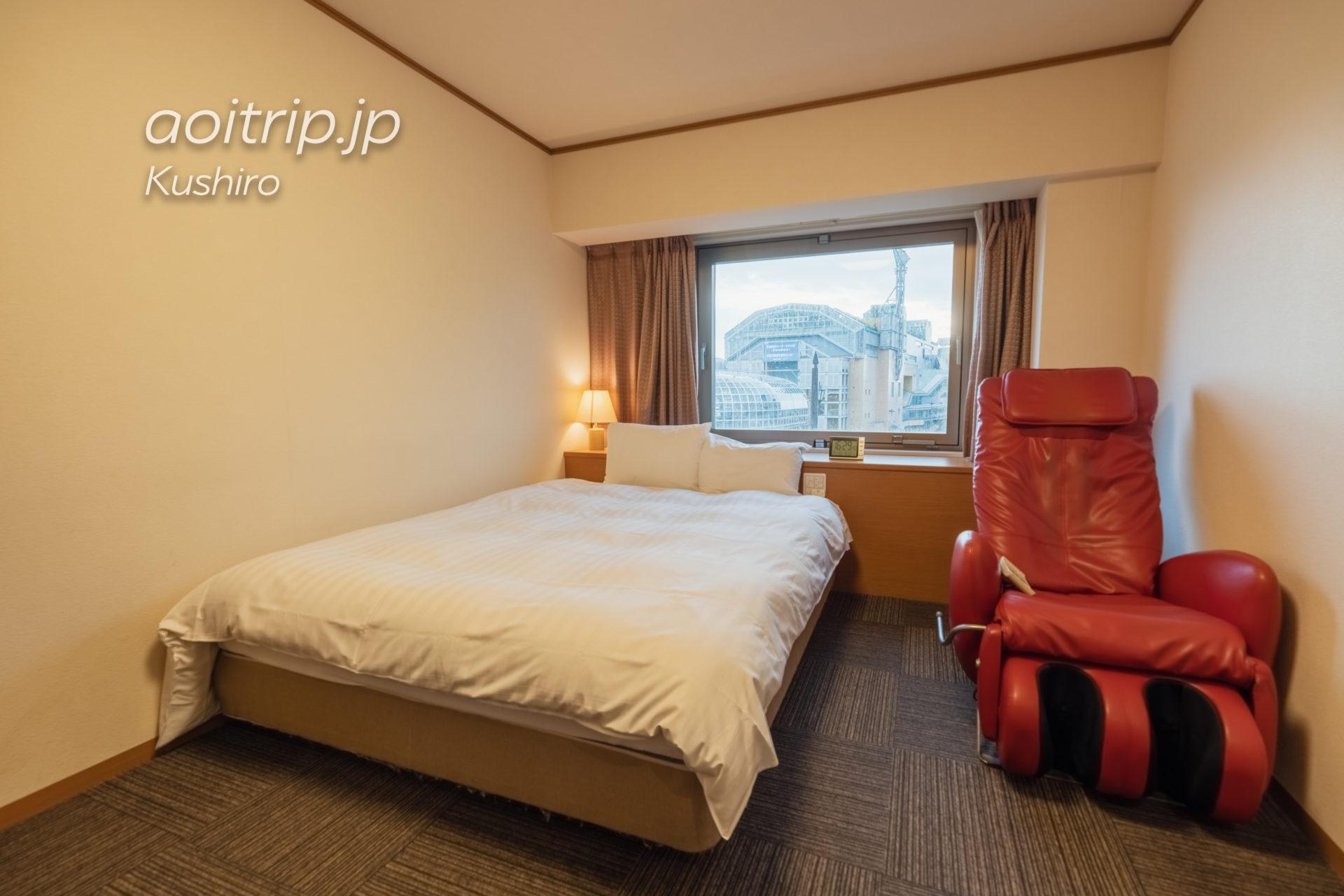 天然温泉 幣舞の湯 ラビスタ釧路川 宿泊記|La Vista Kushirogawa クイーンルームの客室