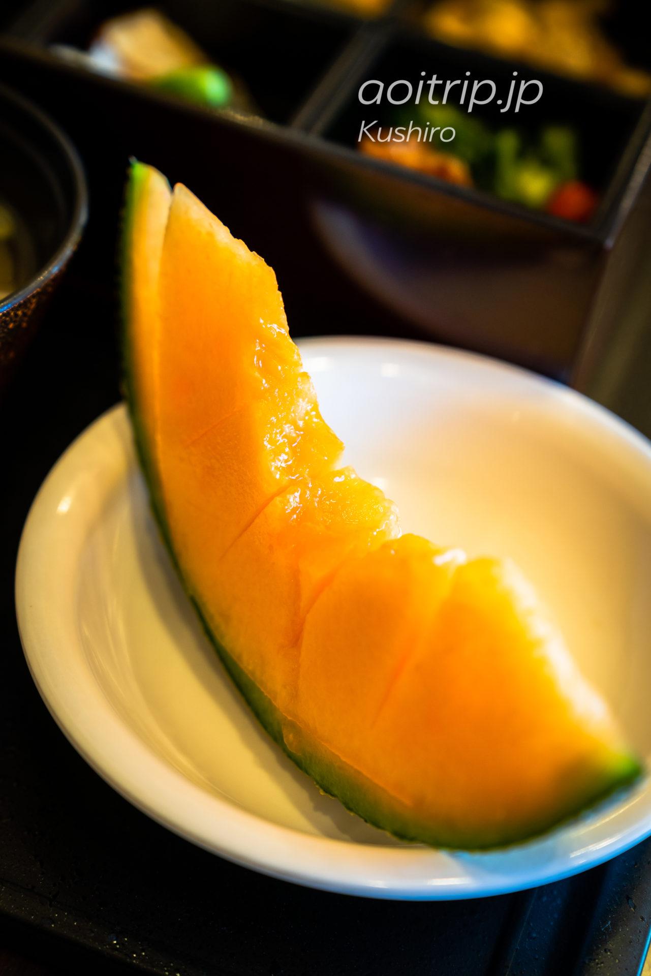 天然温泉 幣舞の湯 ラビスタ釧路川 宿泊記|La Vista Kushirogawa 朝食のメロン