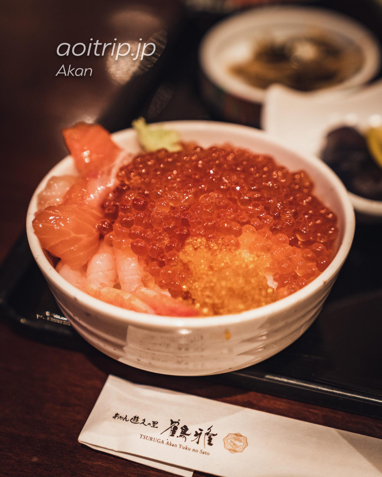 あかん遊久の里 鶴雅の朝食 海鮮丼