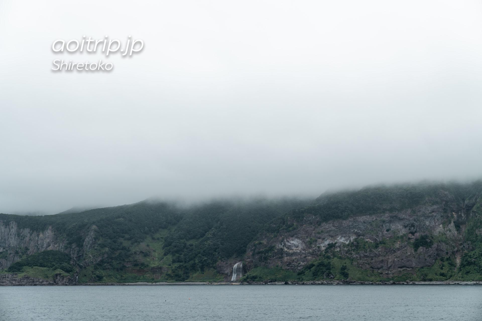 知床観光船おーろら カムイワッカの滝航路 カムイワッカ湯の滝