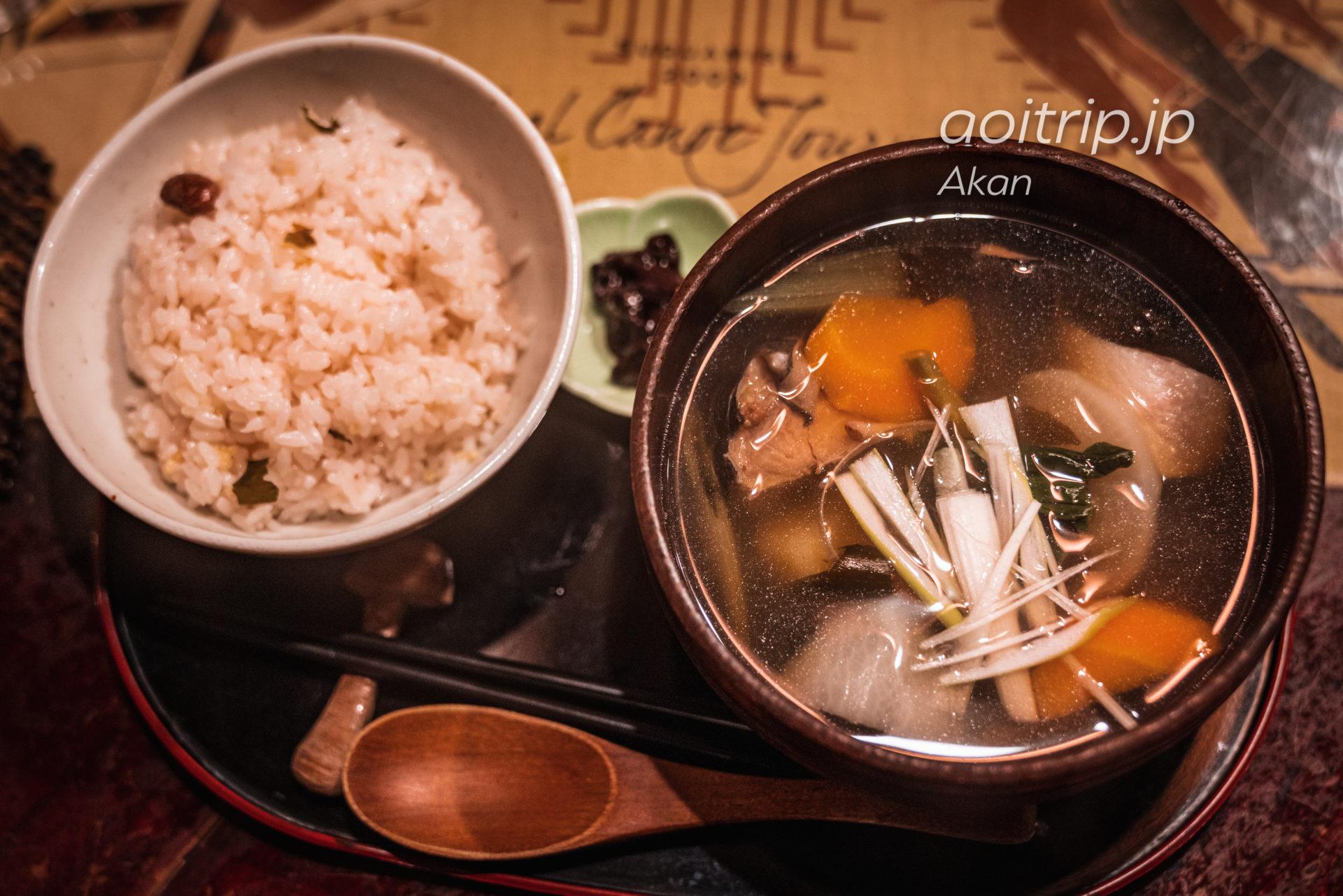 阿寒湖アイヌコタン Ainu Kotan 民芸喫茶ポロンノのユクオハウ(鹿汁)