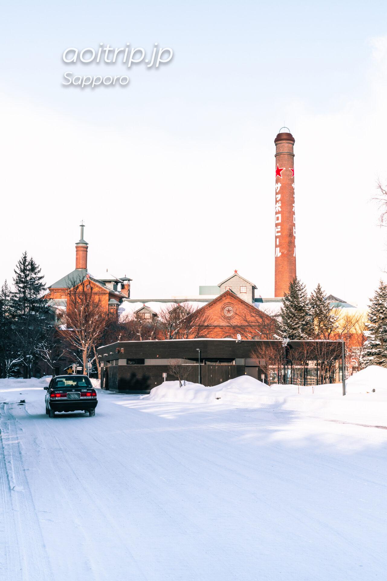 雪が積もる冬のサッポロビール博物館