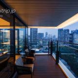 メズム東京 Chapter 3 Suiteのバルコニー夜景