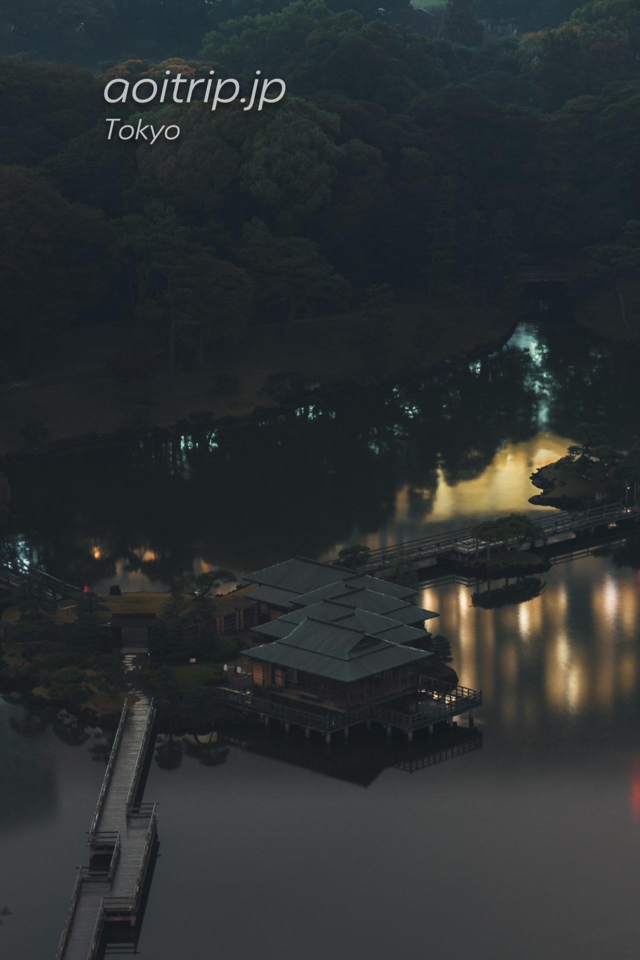 メズム東京から望む浜離宮恩賜庭園
