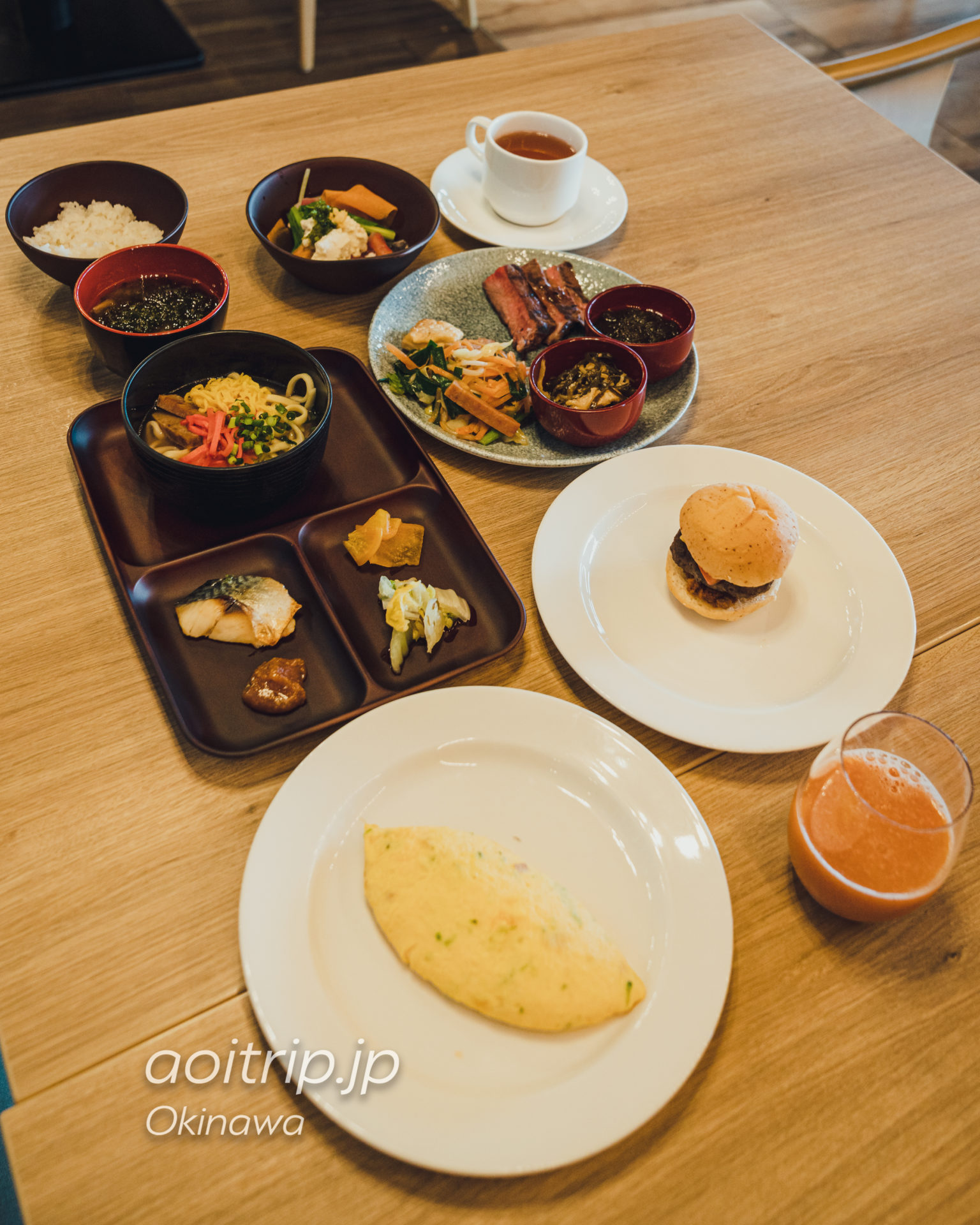 オキナワ マリオット リゾート & スパの朝食ビュッフェ