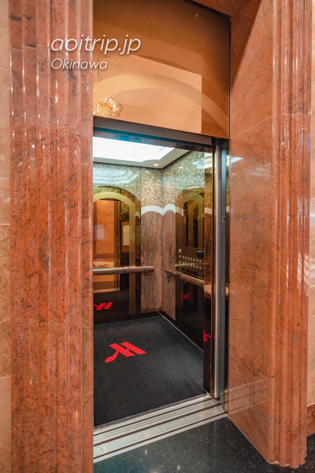 オキナワ マリオット リゾート & スパのエレベーター