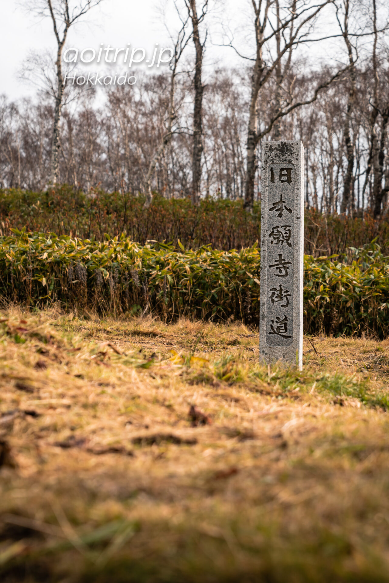 「道の駅望洋中山」の旧本願寺街道碑
