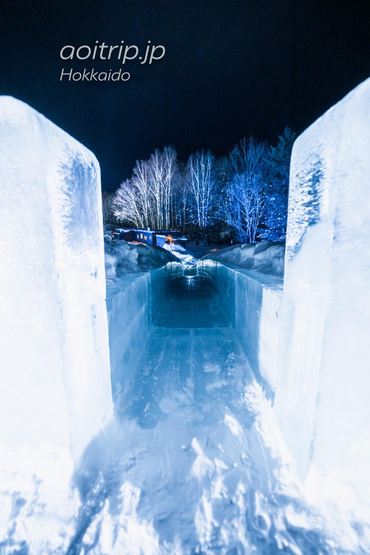 アイスヴィレッジの氷の滑り台