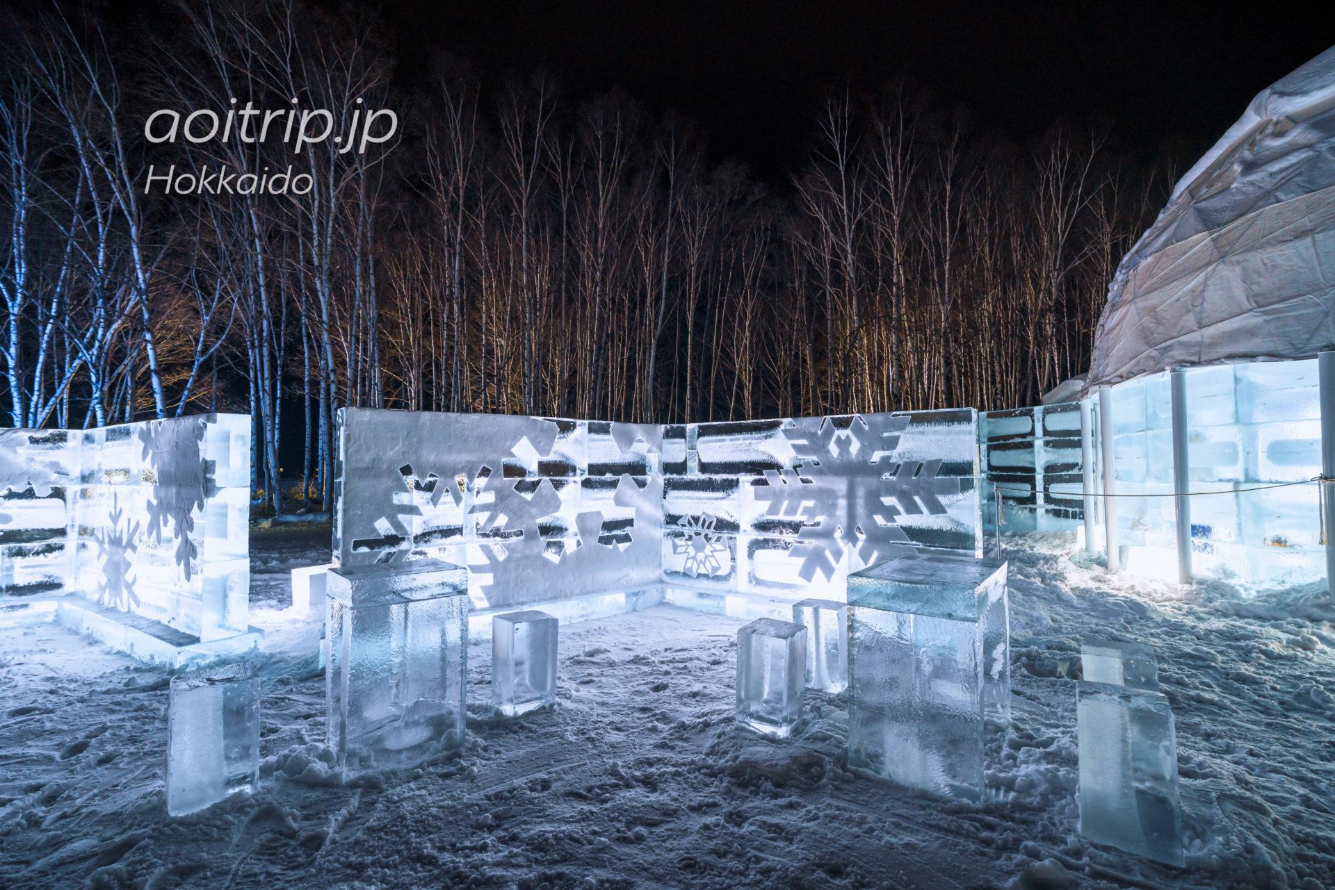 アイスヴィレッジの氷のテラス
