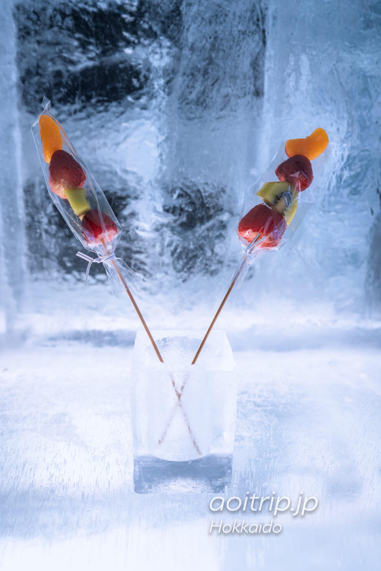 アイスヴィレッジの氷のフルーツショップ