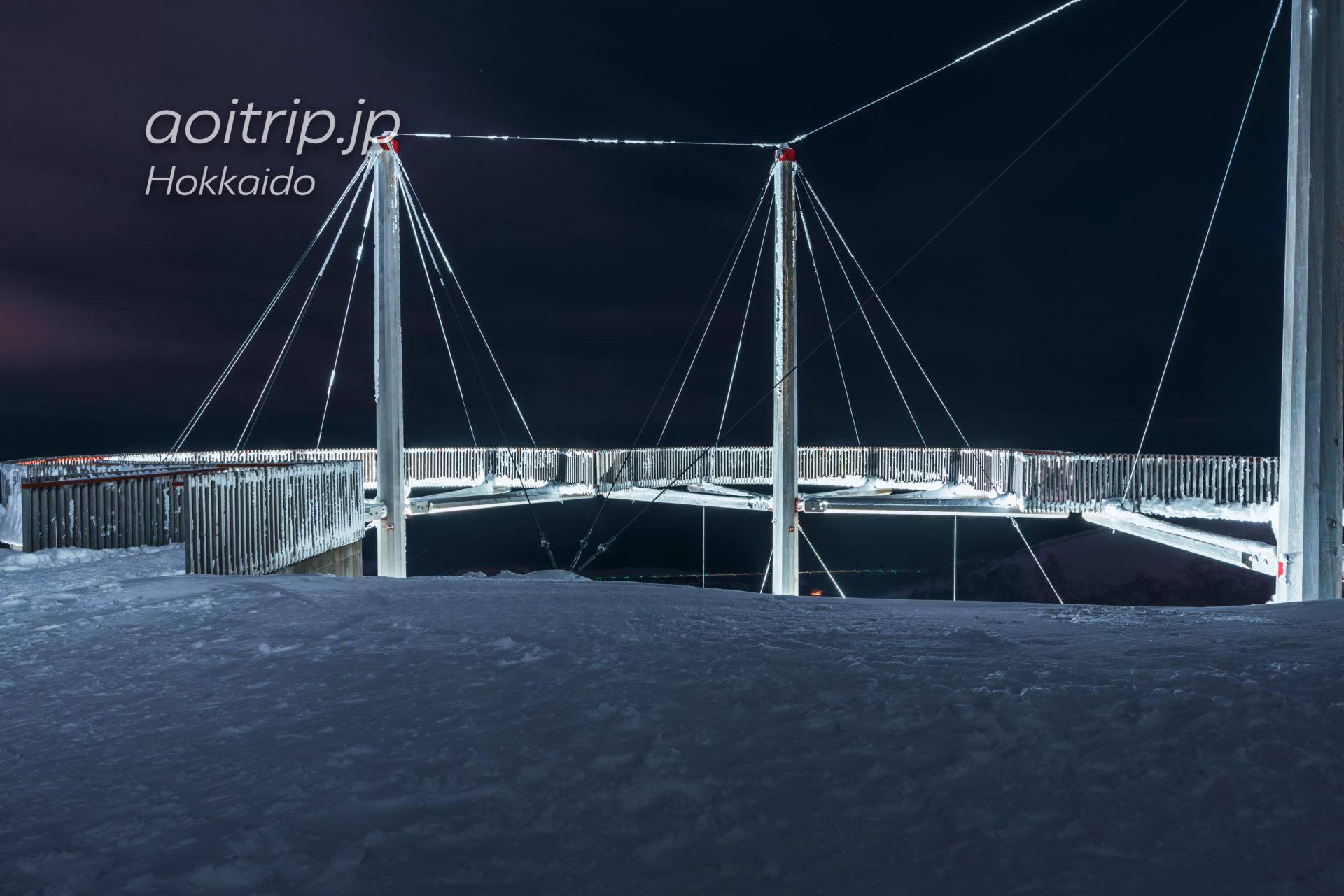 夜の霧氷テラスライトアップ クラウドウォーク
