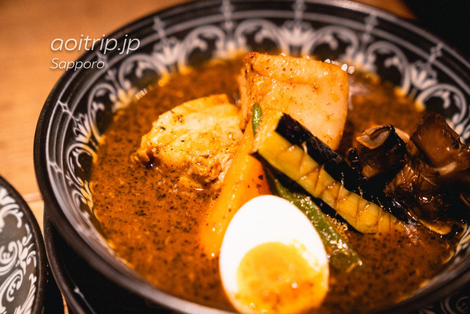 北海道札幌のスープカレー専門店「らっきょ (Rakkyo)」十勝産どろ豚角煮のスープカレー