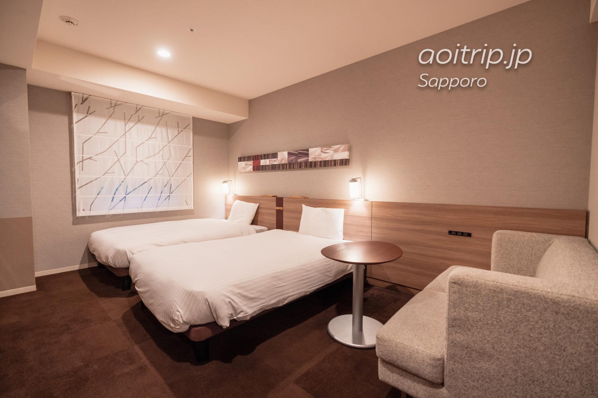 三井ガーデンホテル札幌 宿泊記|Mitsui Garden Hotel Sapporo モデレートツインルームの客室