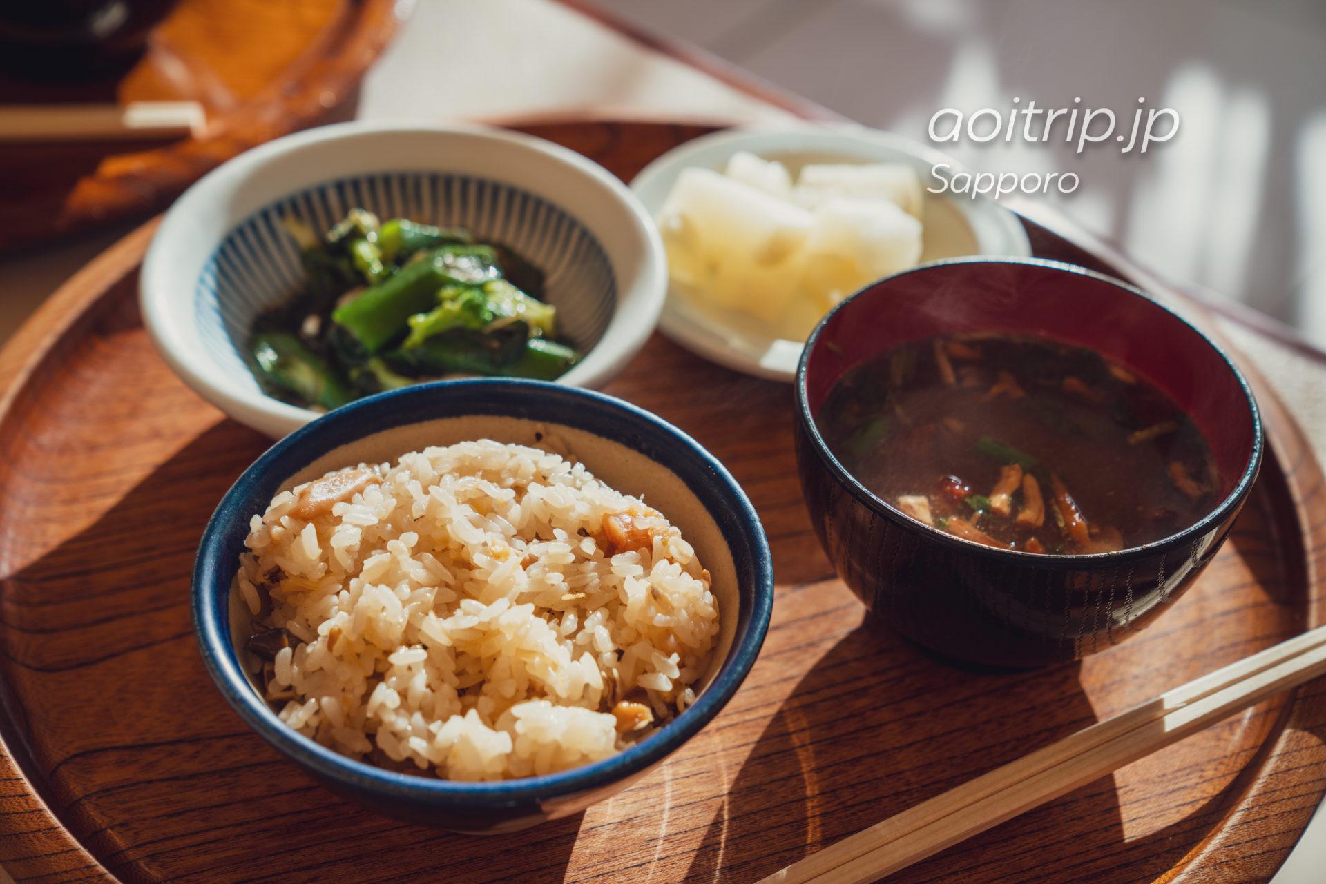 六花亭 円山店 ほたて強飯定食