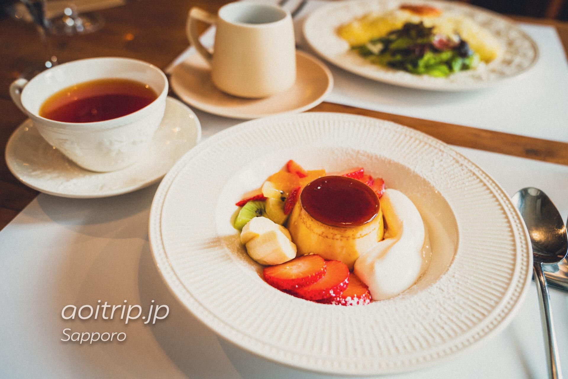 札幌 キッチンうふ Kitchen Oeufsのプリンアラモード