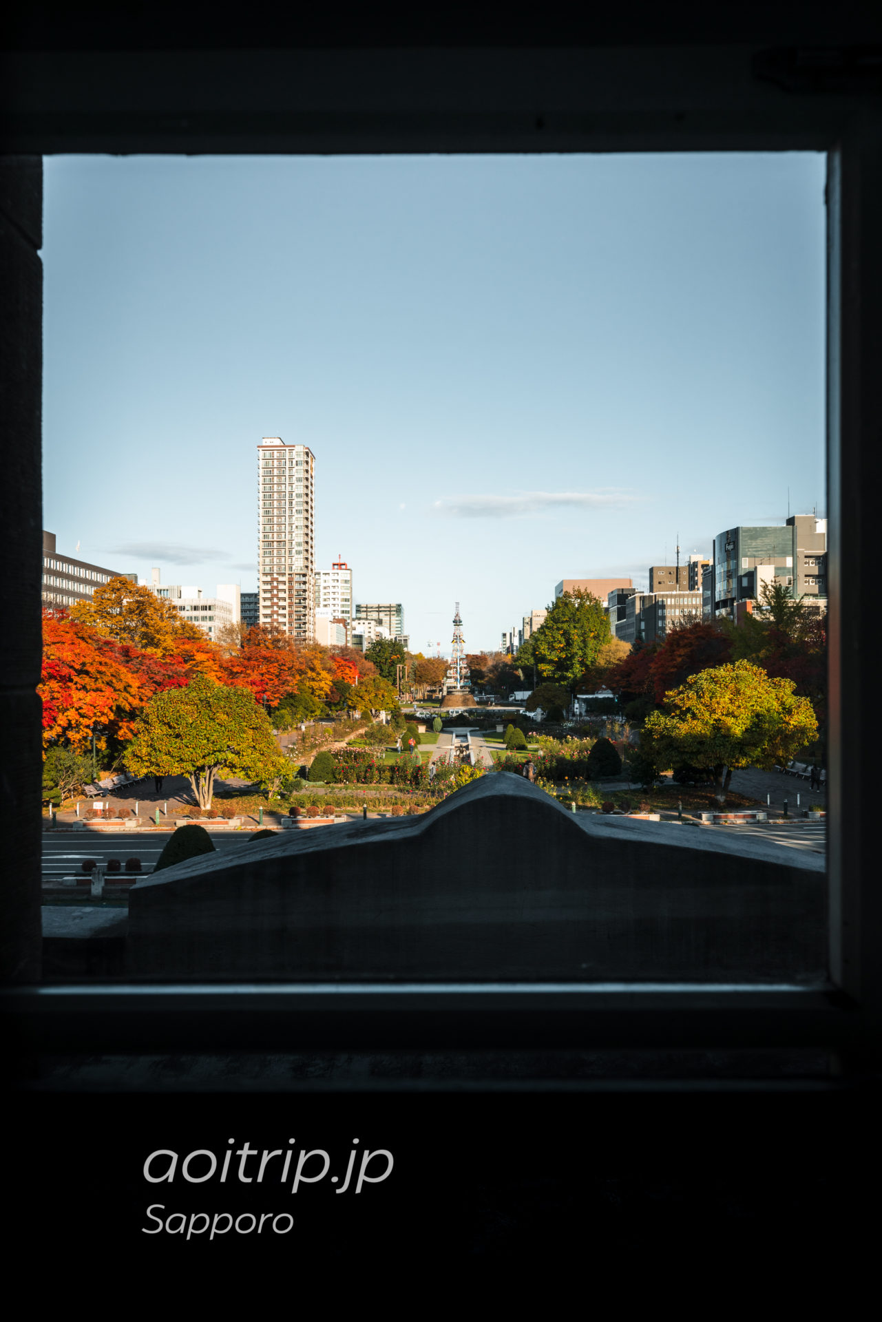 札幌市資料館(旧札幌控訴院)から望む大通公園