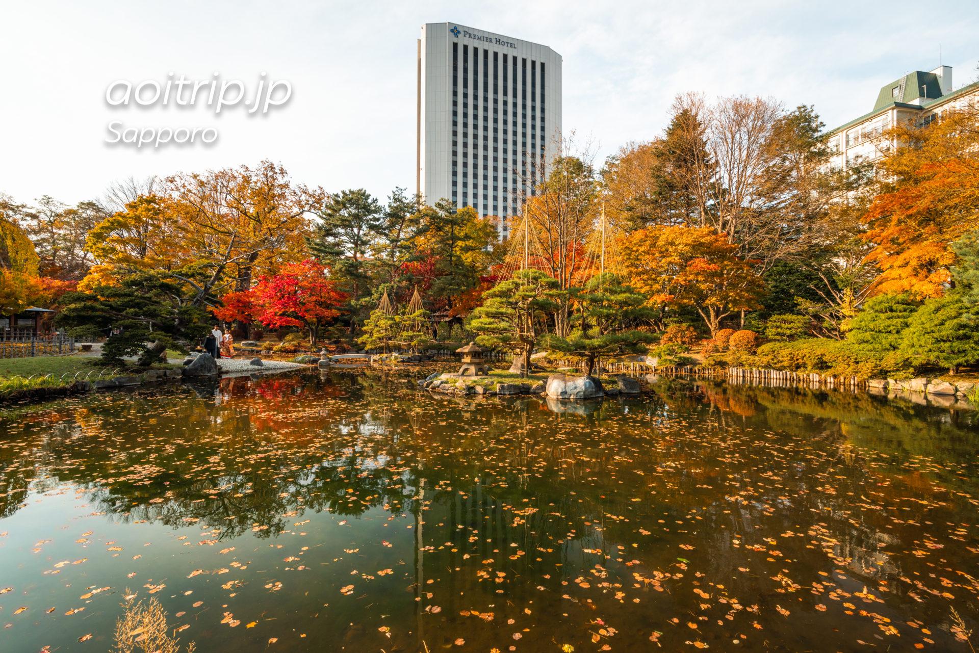 札幌の中島公園 日本庭園