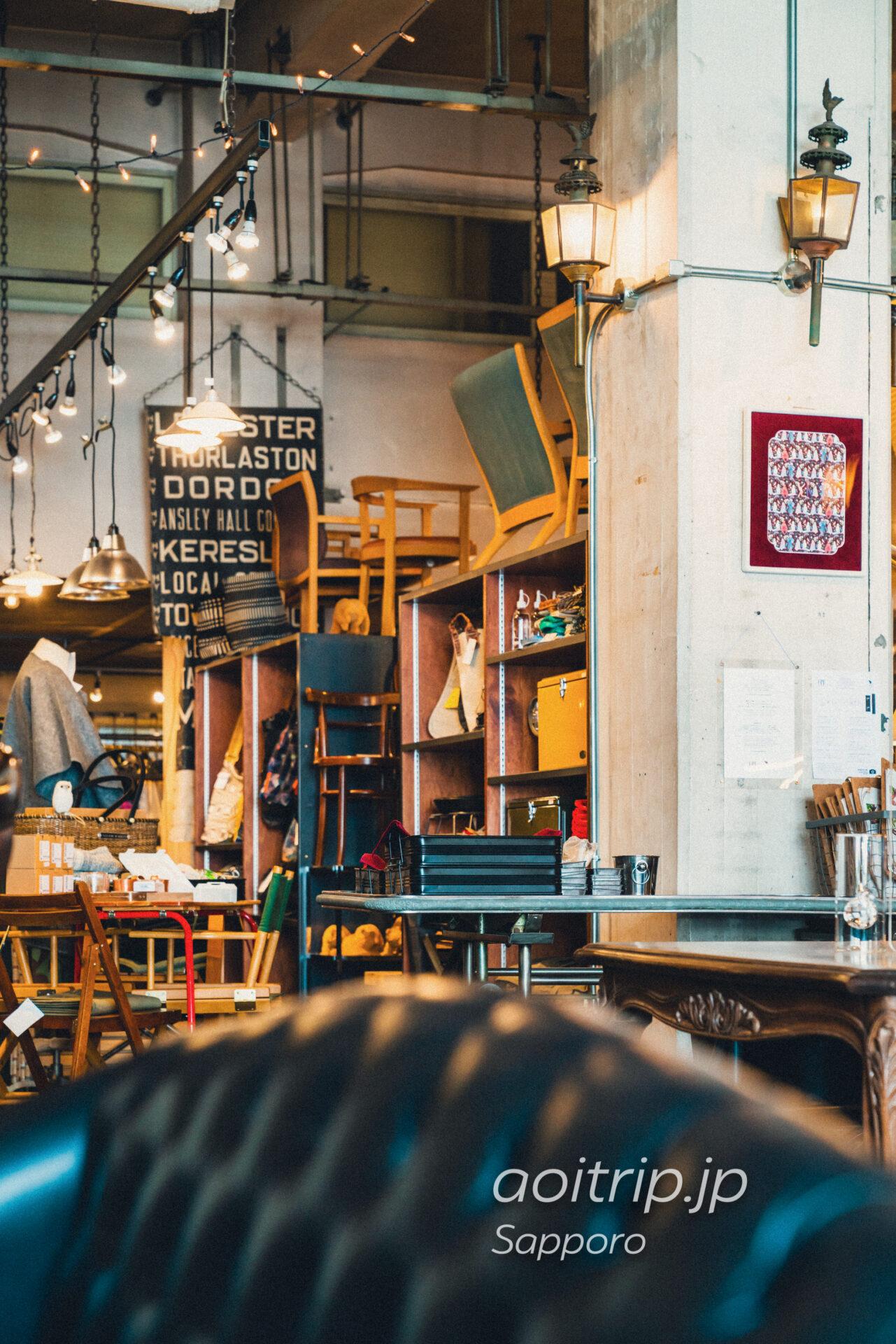 札幌のカフェ FAbULOUS(ファビュラス)カフェとショップ店内