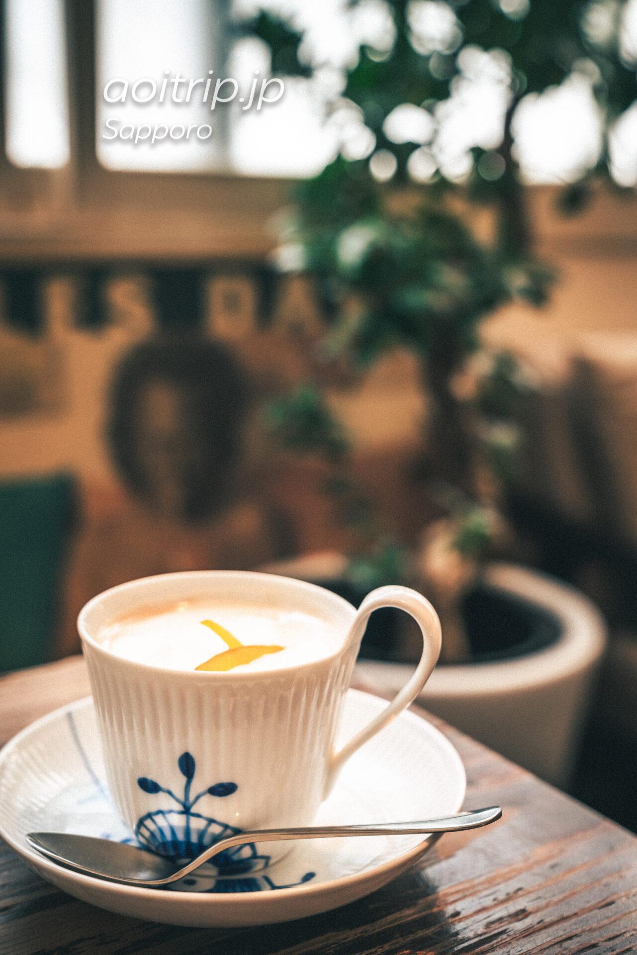 札幌 ミンガスコーヒーのオレンジカフェオレ