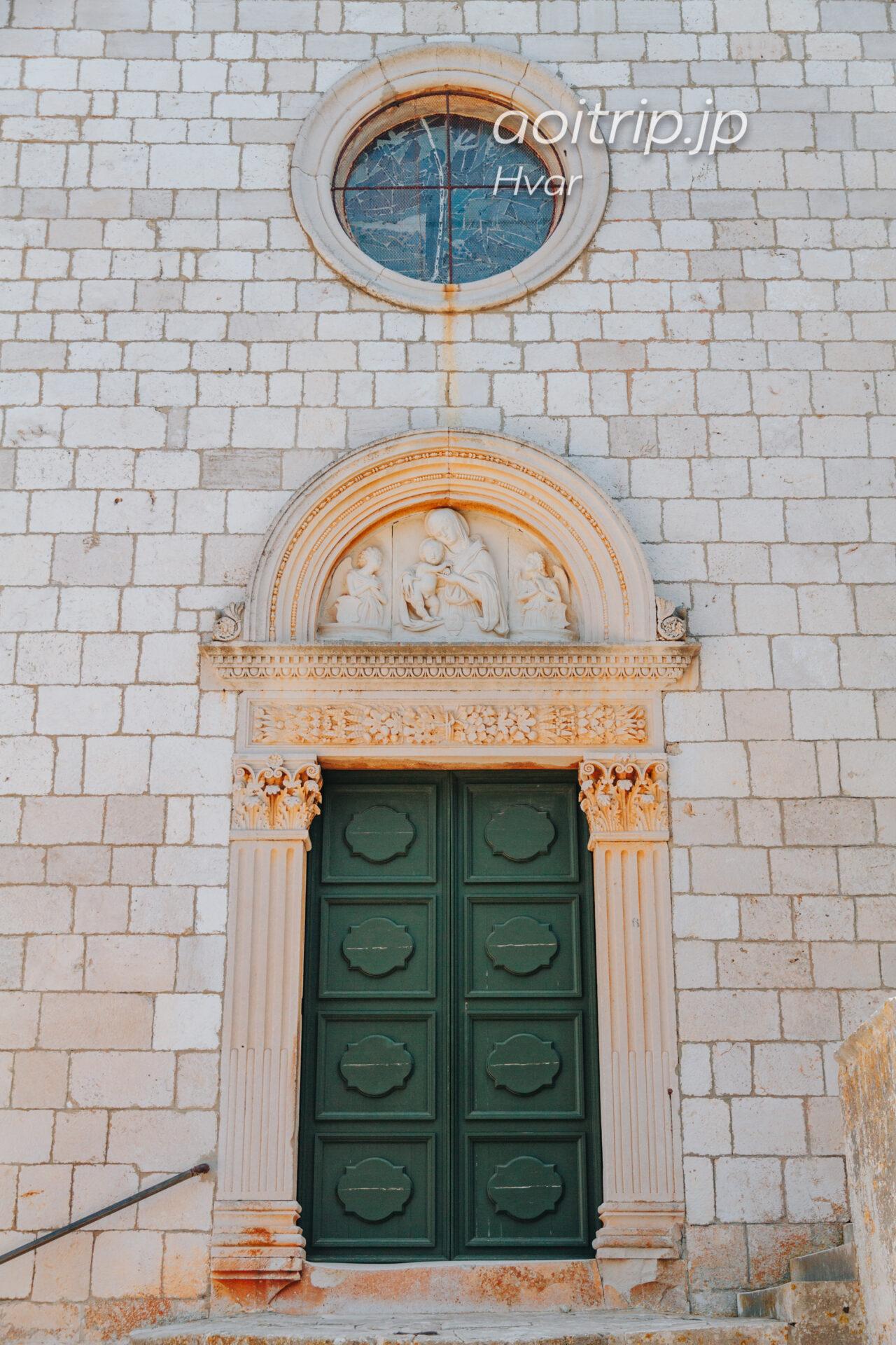 クロアチア フヴァル島のフランシスコ会修道院 Franciscan monastery