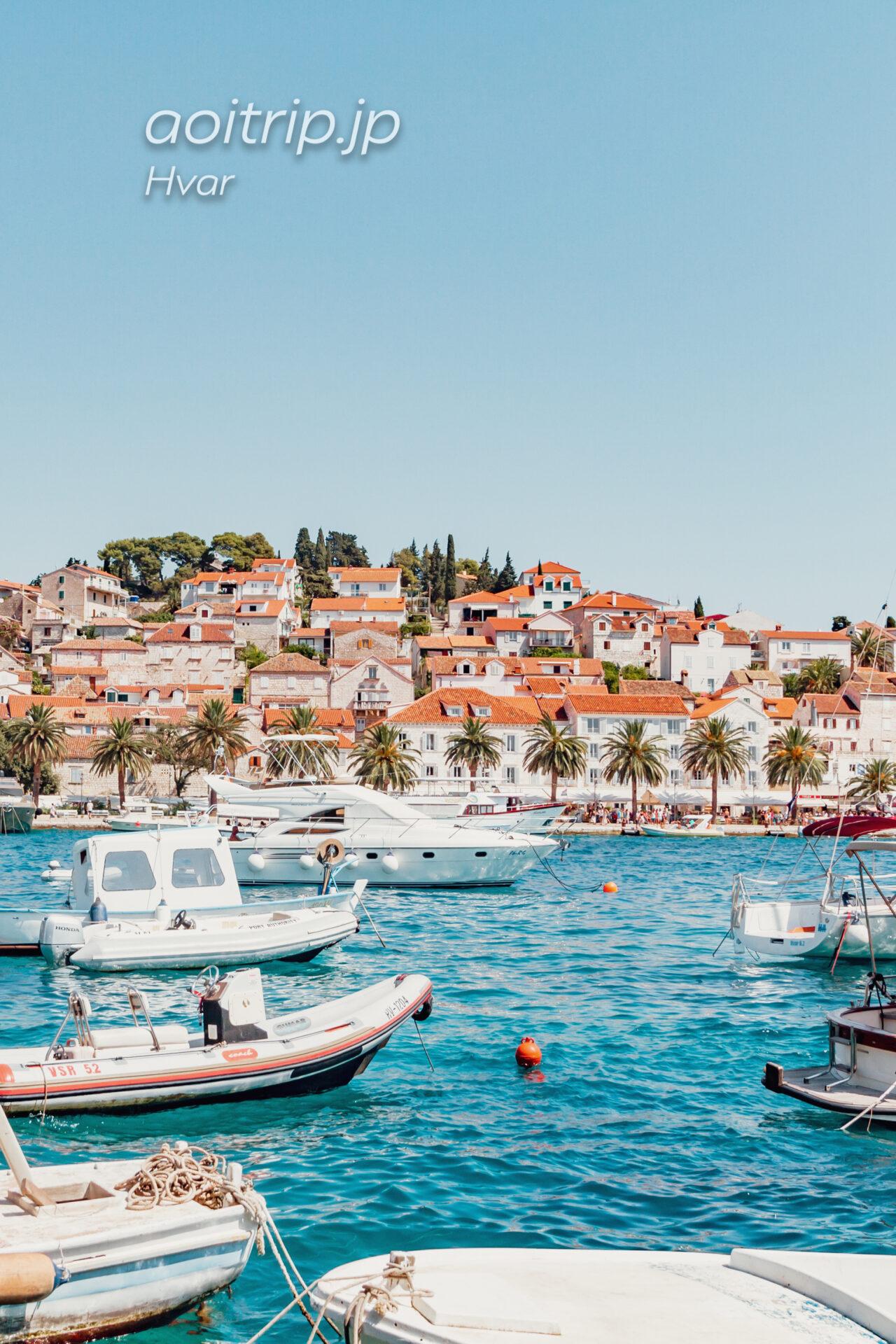 クロアチア フヴァル港
