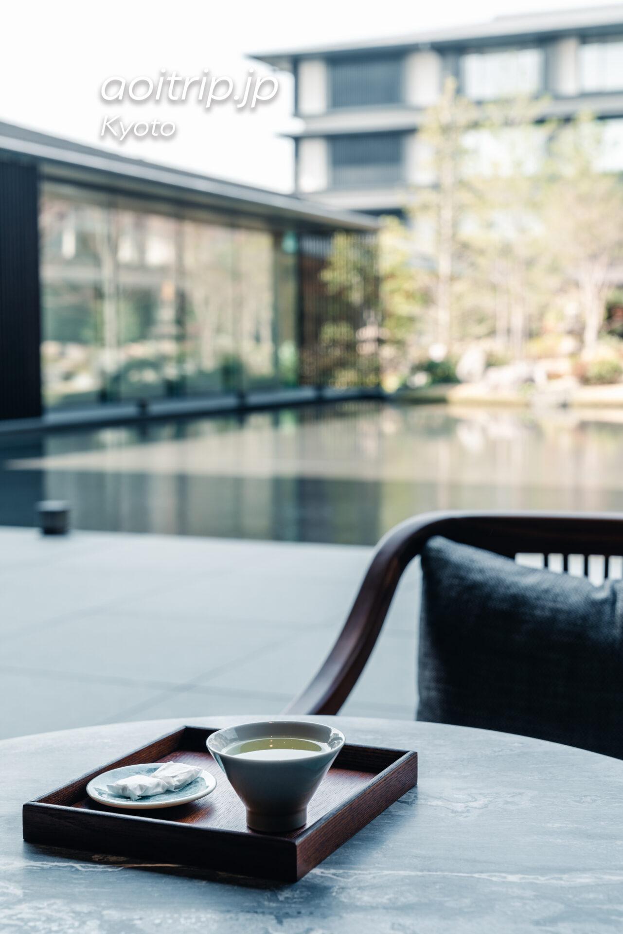 ホテル ザ ミツイ キョウトのウェルカムドリンクのお茶