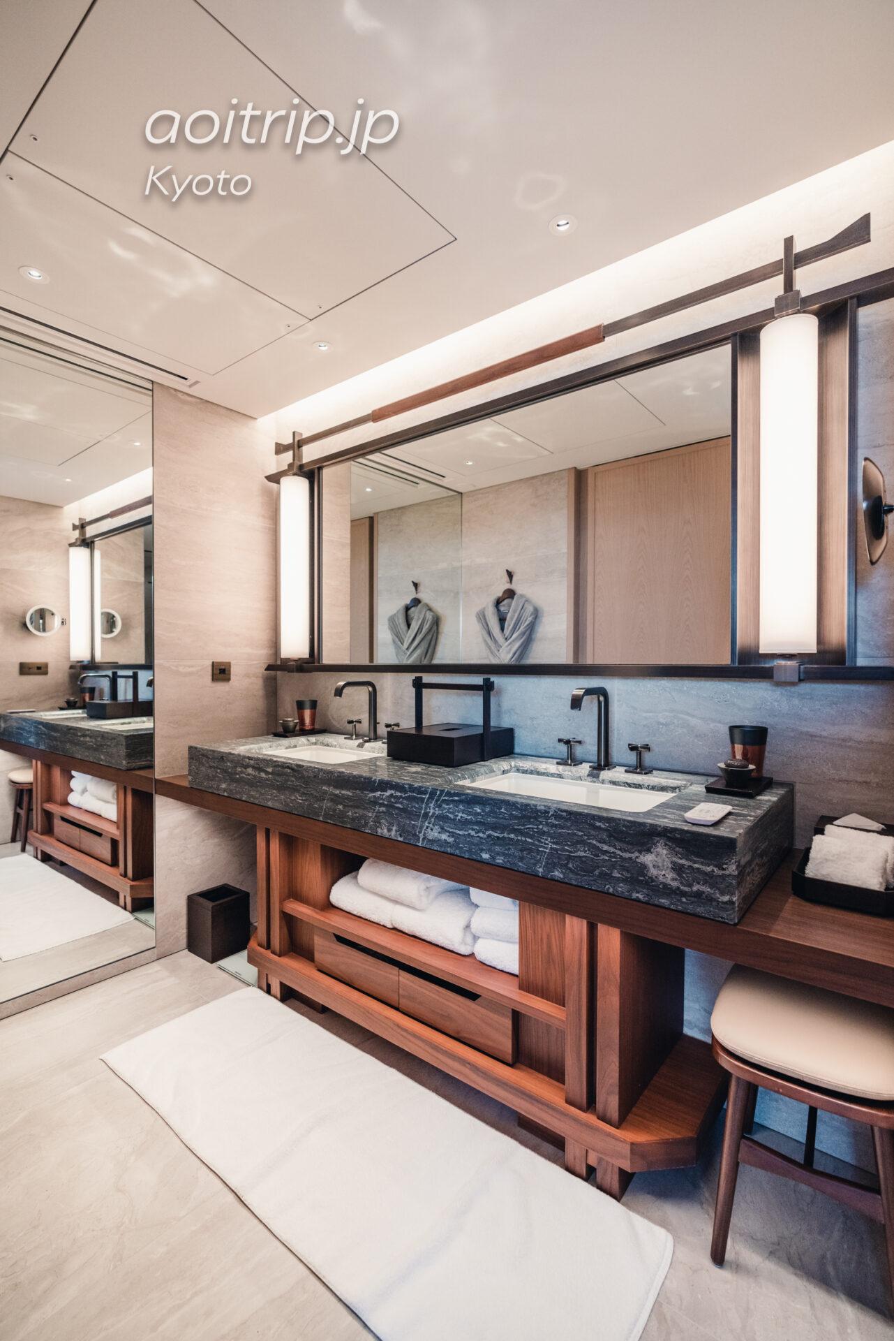 HOTEL THE MITSUI KYOTO デラックススイートの洗面台