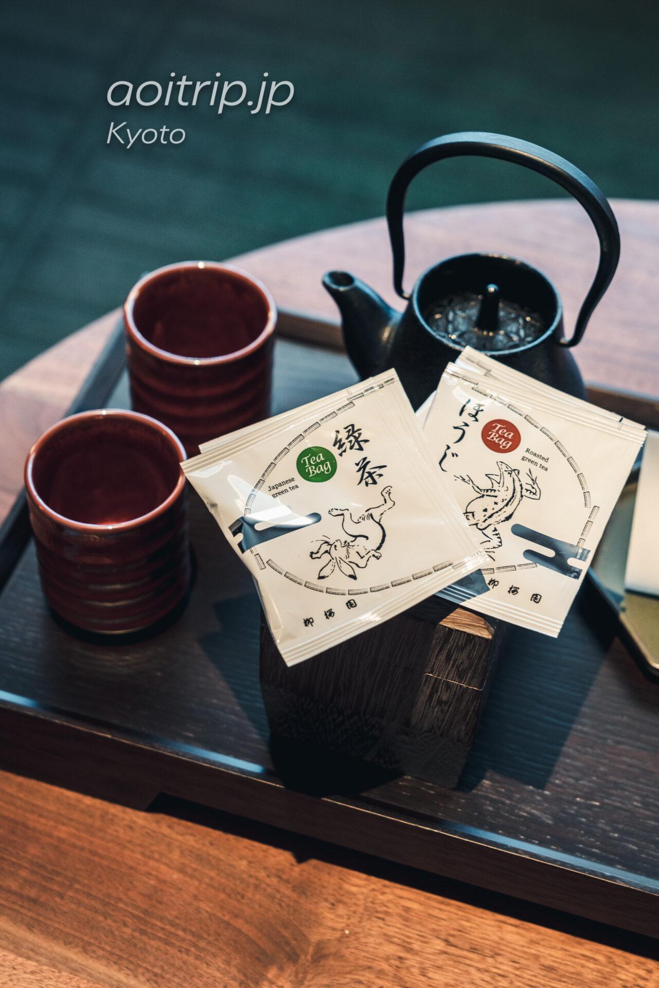 HOTEL THE MITSUI KYOTO チタンエリート特典のウェルカムドリンク 柳桜園茶舗