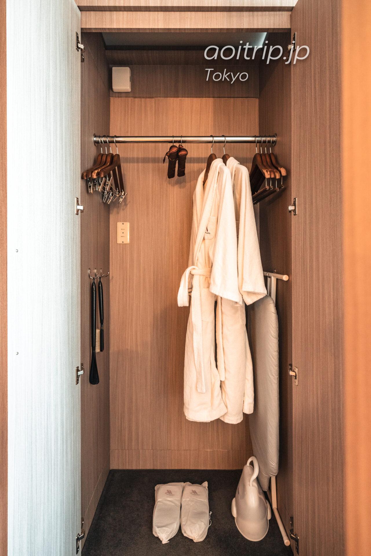 東京マリオットホテルの客室 クローゼット
