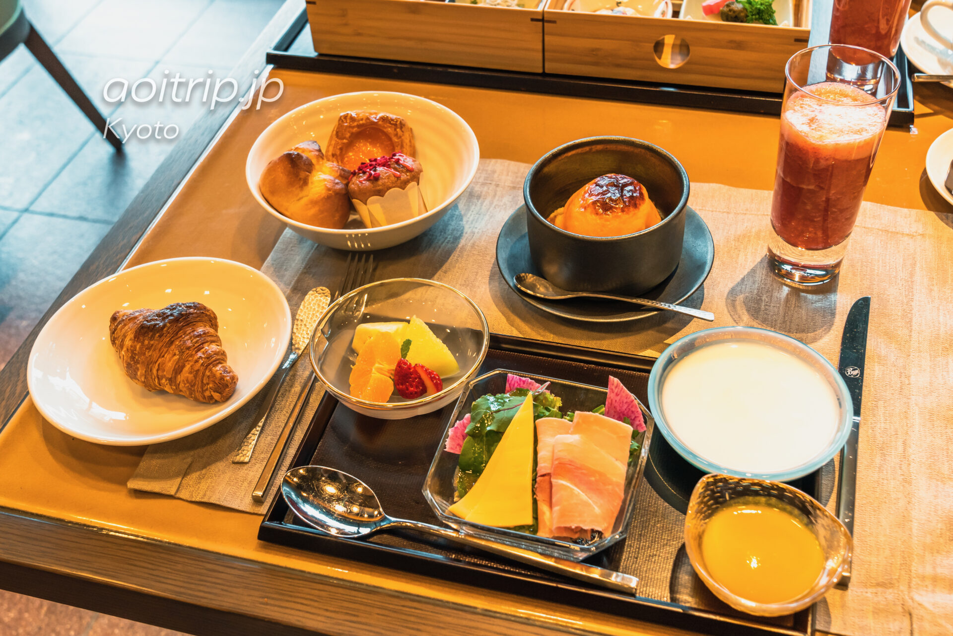 HOTEL THE MITSUI KYOTO, THE GARDEN BARの朝食 アメリカンブレックファスト
