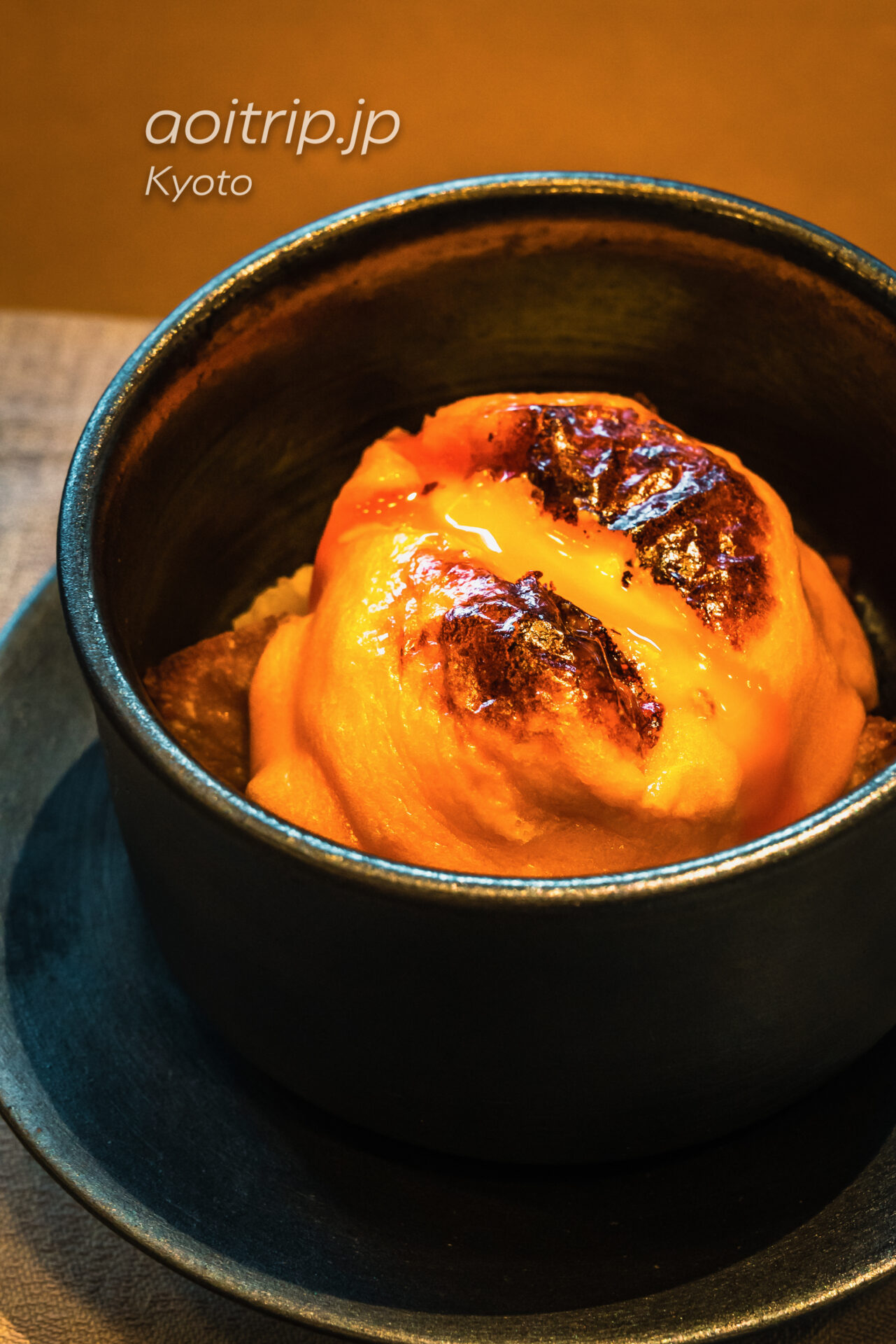 HOTEL THE MITSUI KYOTO, THE GARDEN BARの朝食 アメリカンブレックファスト エッグベネディクトとフレンチトーストの融合 エッグフレディクト西京味噌