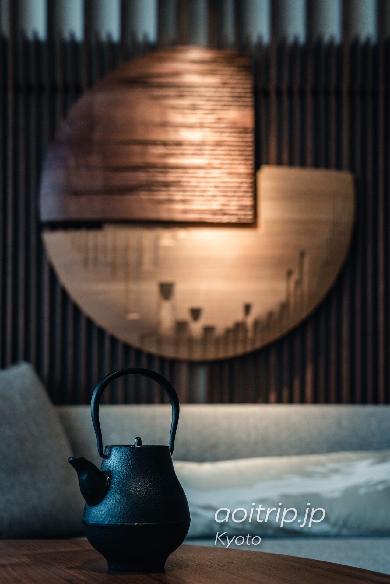 HOTEL THE MITSUI KYOTO アンドレフー氏がデザインの客室 東閣寒梅・雪山楼閣図