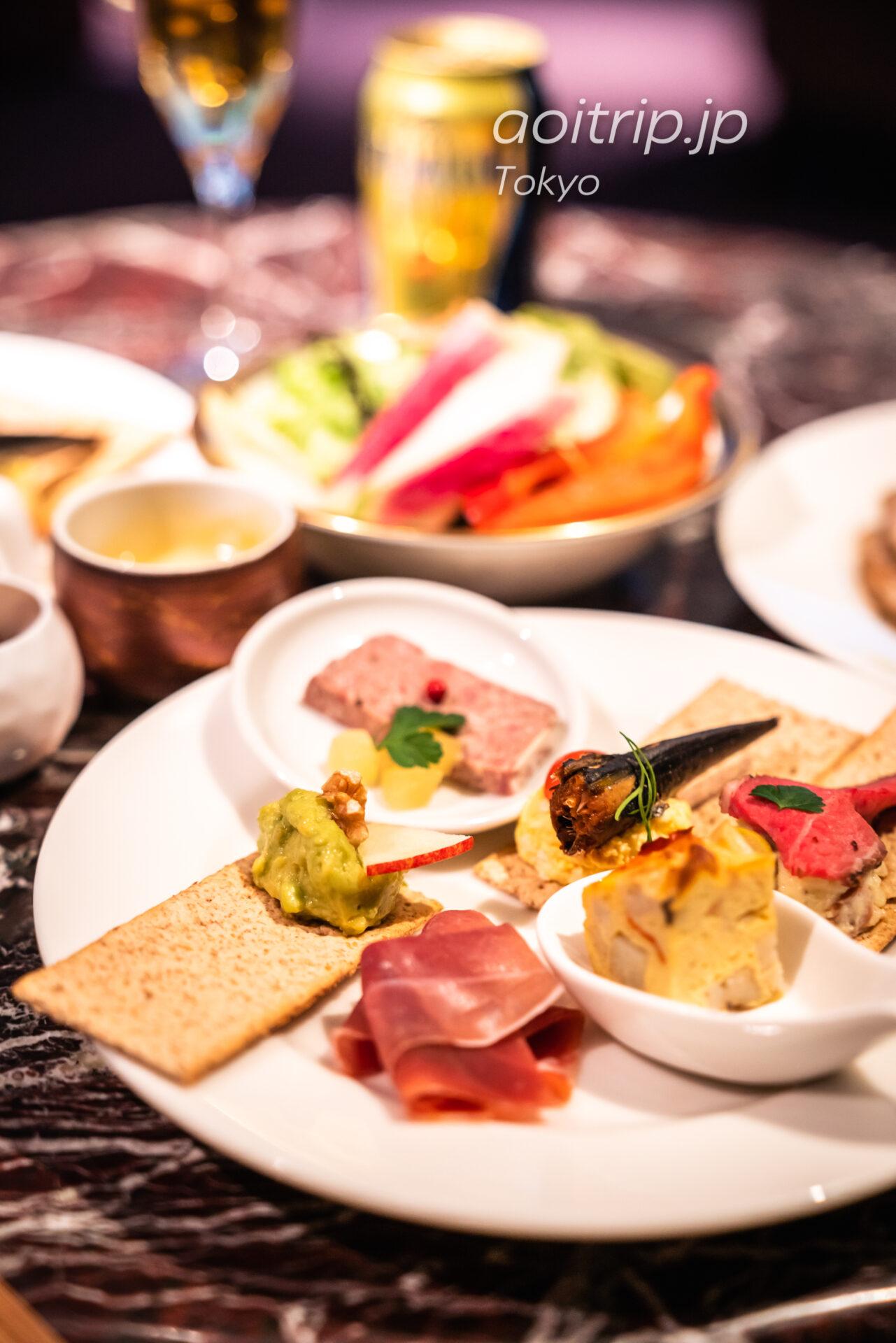 東京マリオットホテルのクラブラウンジ イブニングカクテル