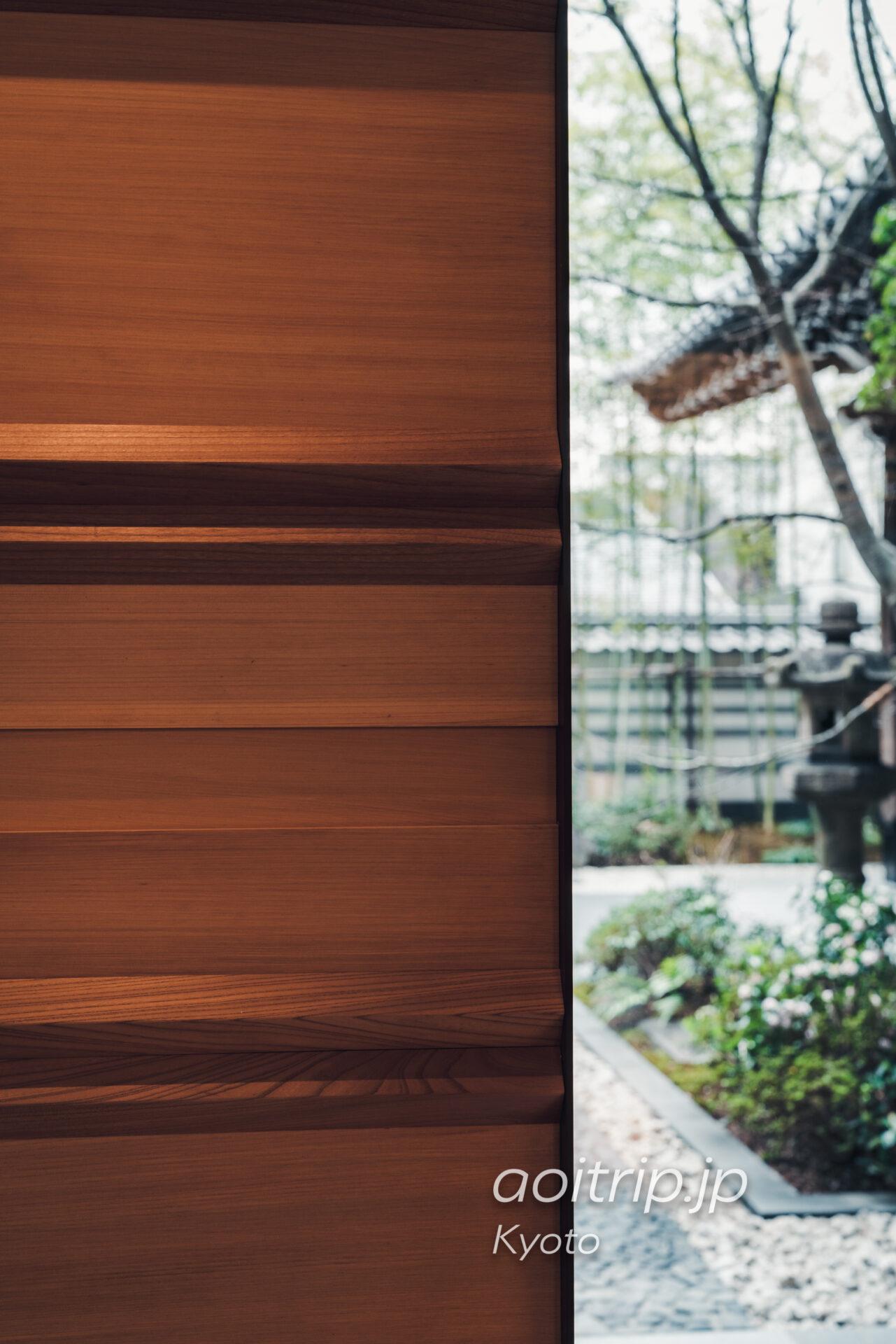 HOTEL THE MITSUI KYOTO 梶井宮門 改修時に再利用された木材