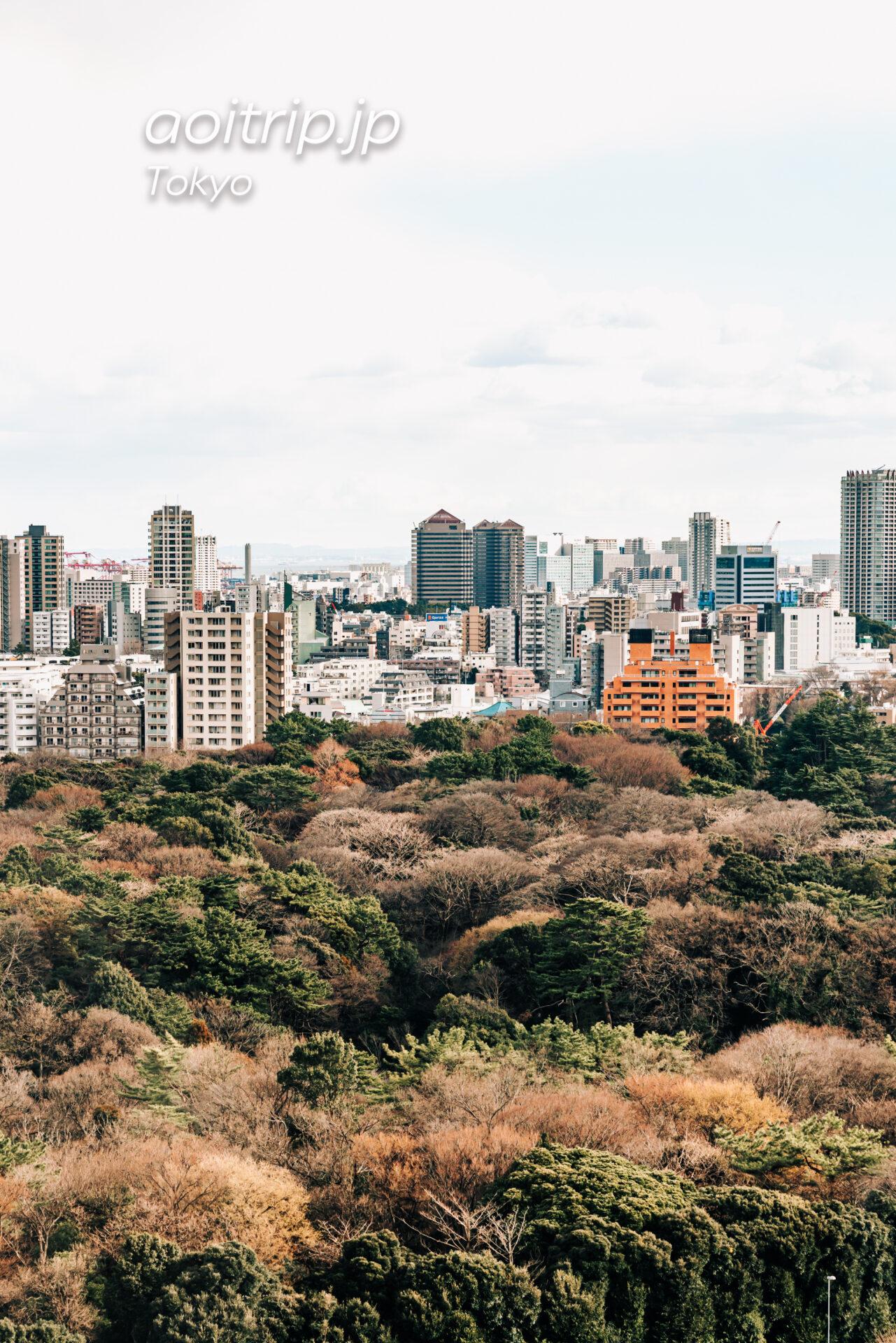東京マリオットホテルをウェスティンホテル東京から望む