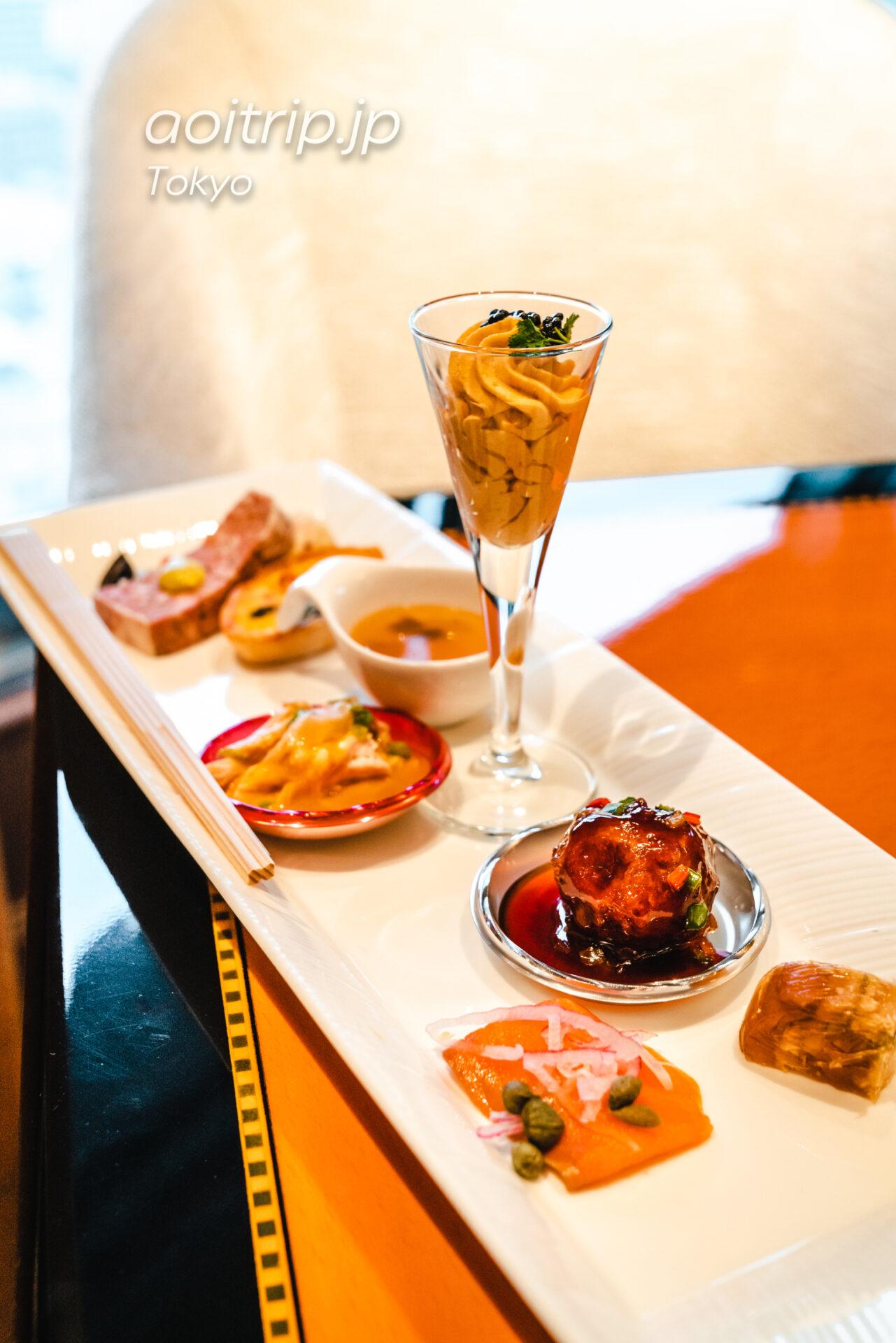 ウェスティン東京のクラブラウンジ カクテルタイムのオードブル料理